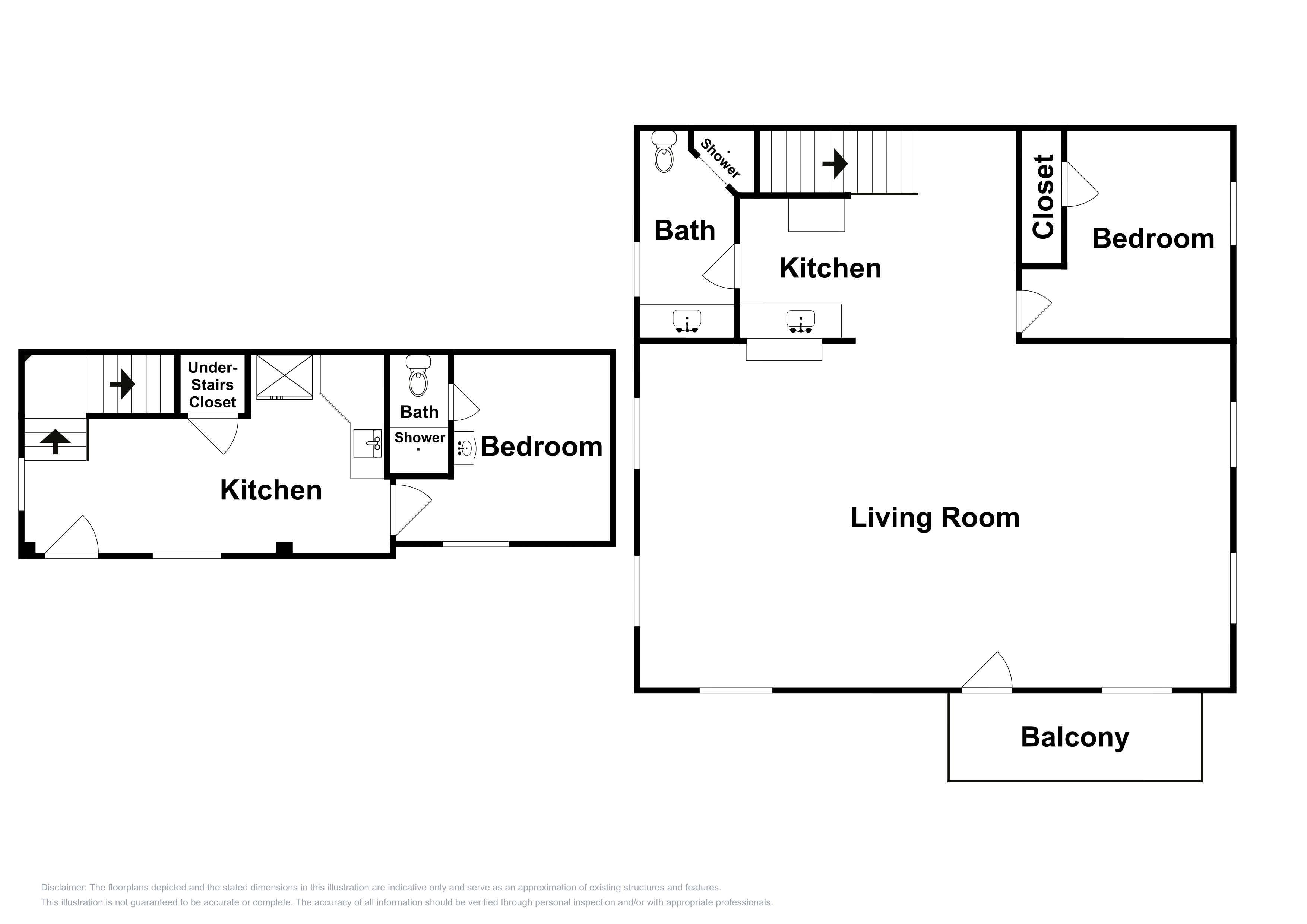 This floor plan of the guesthouse is an approximation and may not include the most recent information.