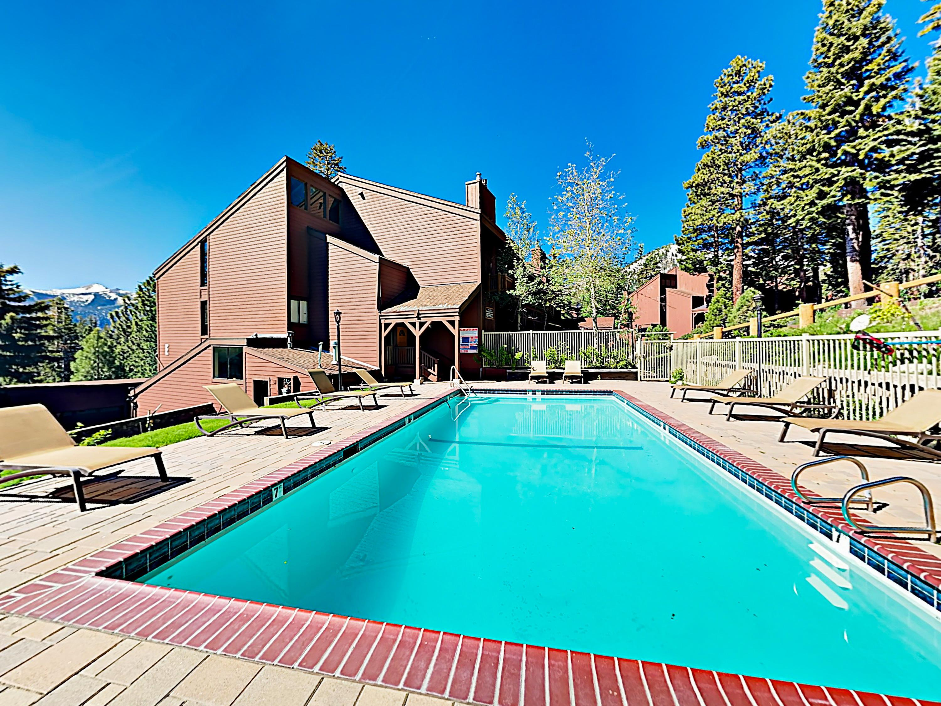 Spend sunny days by the heated pool during the summer months.