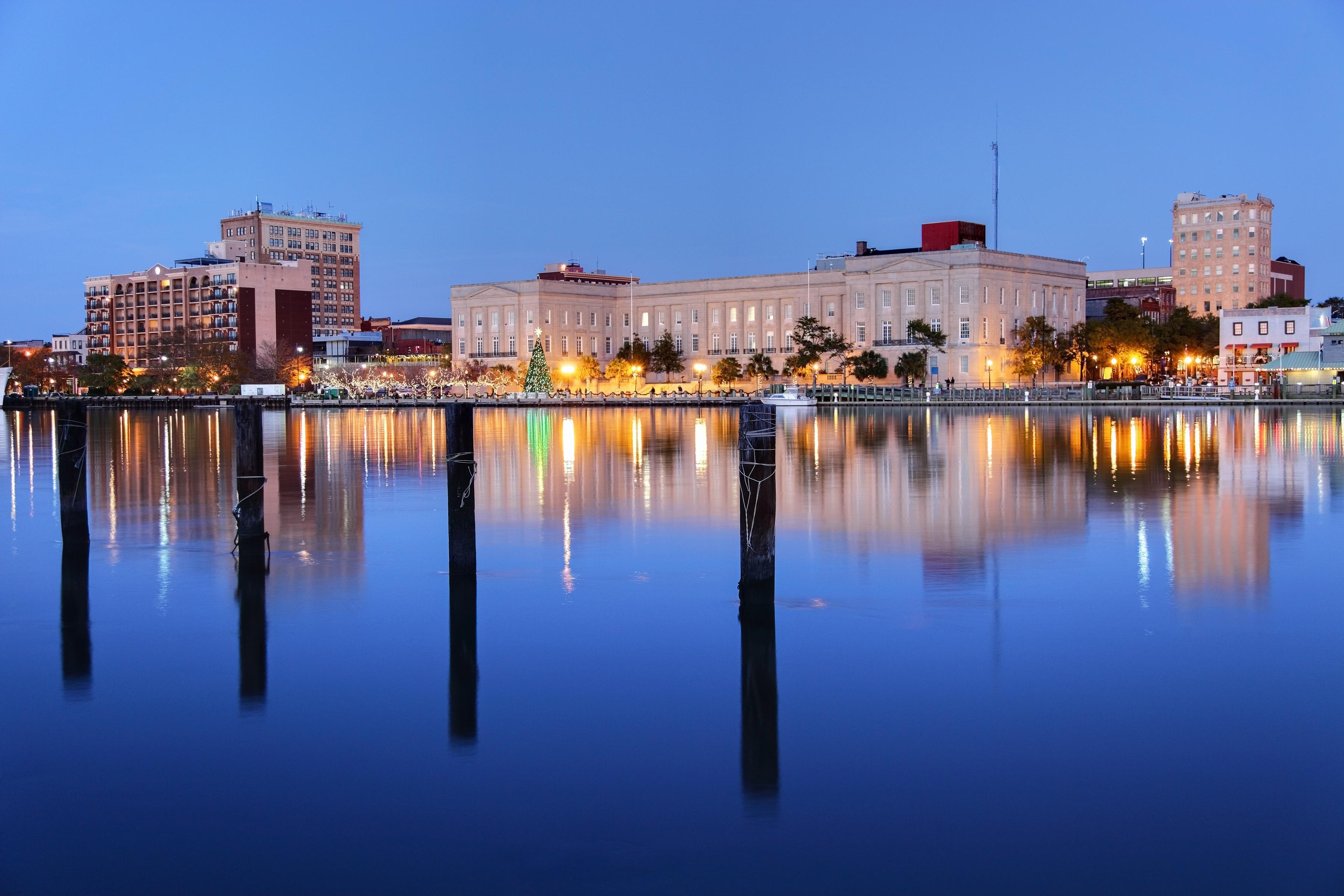 Take in the twinkling lights of Downtown Wilmington.