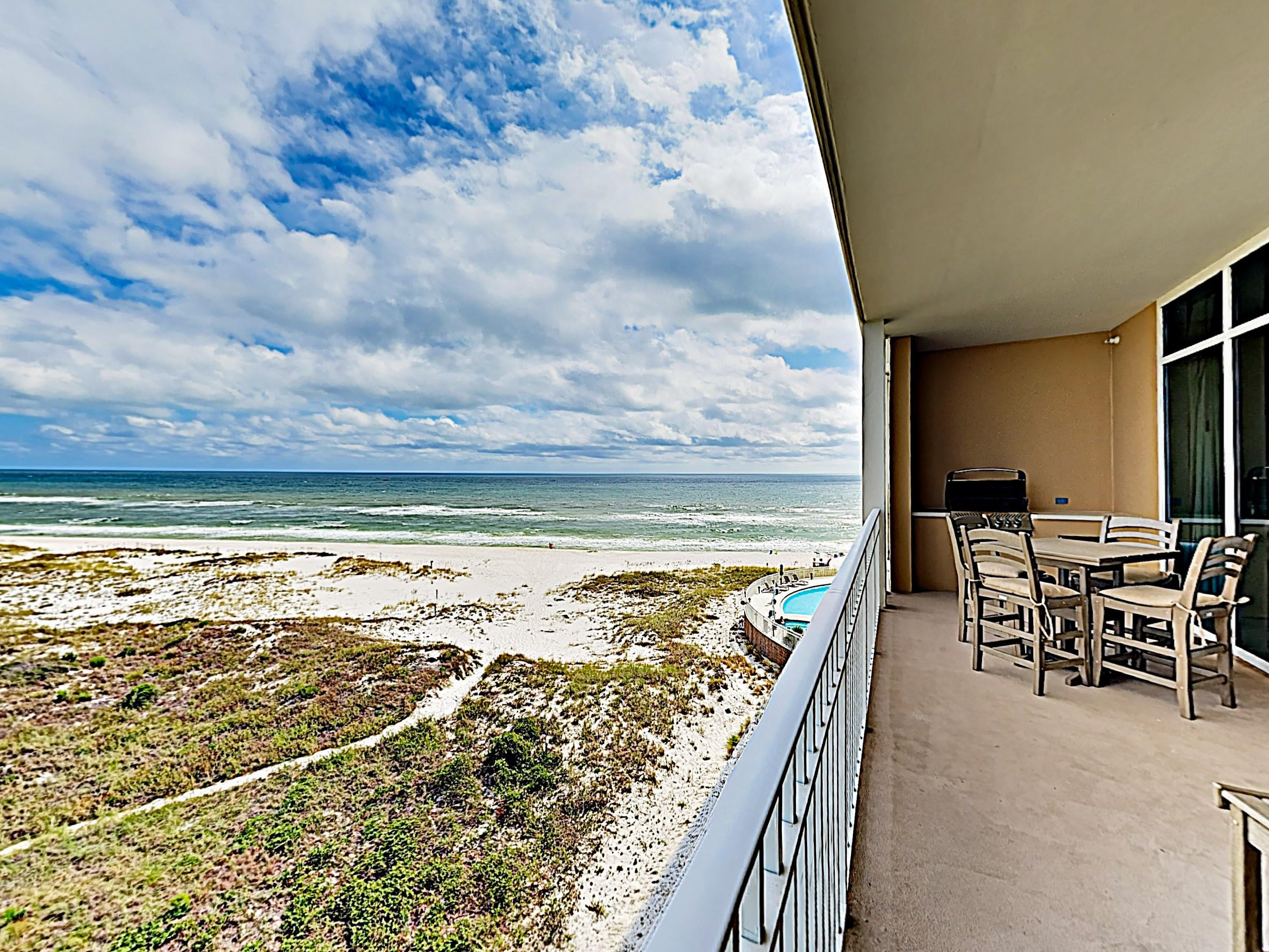 Gorgeous Gulf views await on your private balcony.