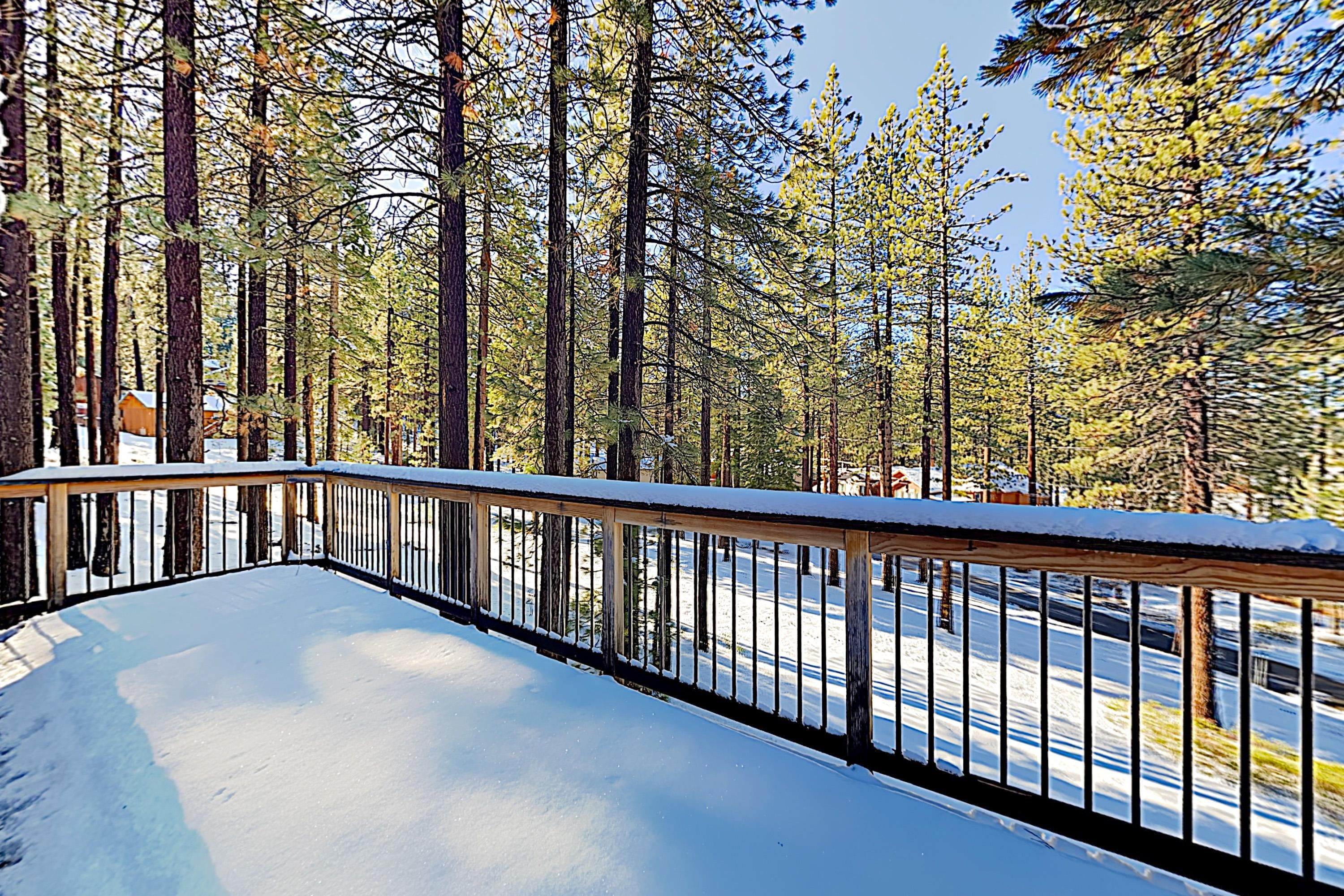2 large decks offer ample space to enjoy the fresh alpine air.