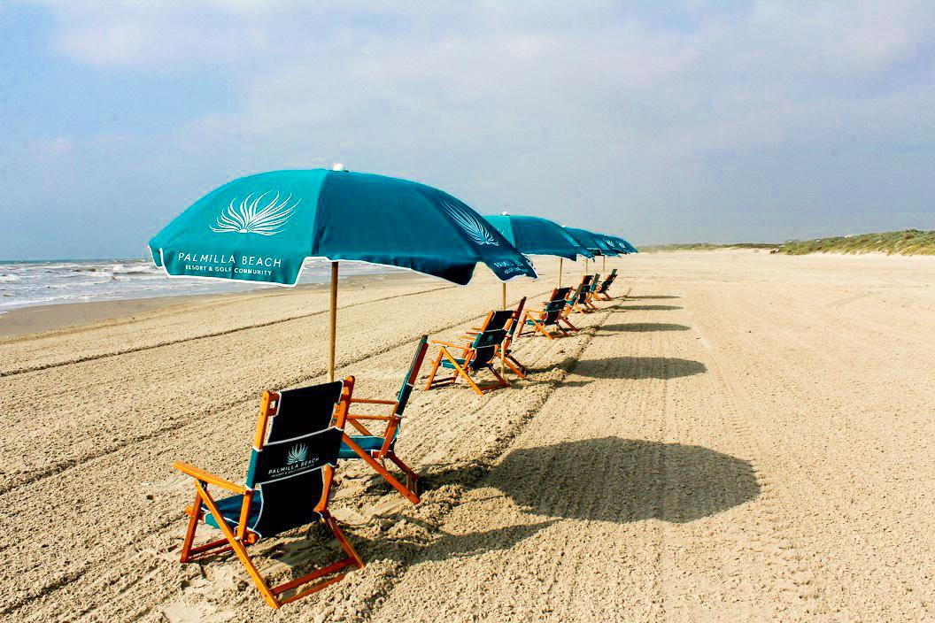 Enjoy the VIP Beach Experience, which includes chairs, umbrellas, and food/drink services.