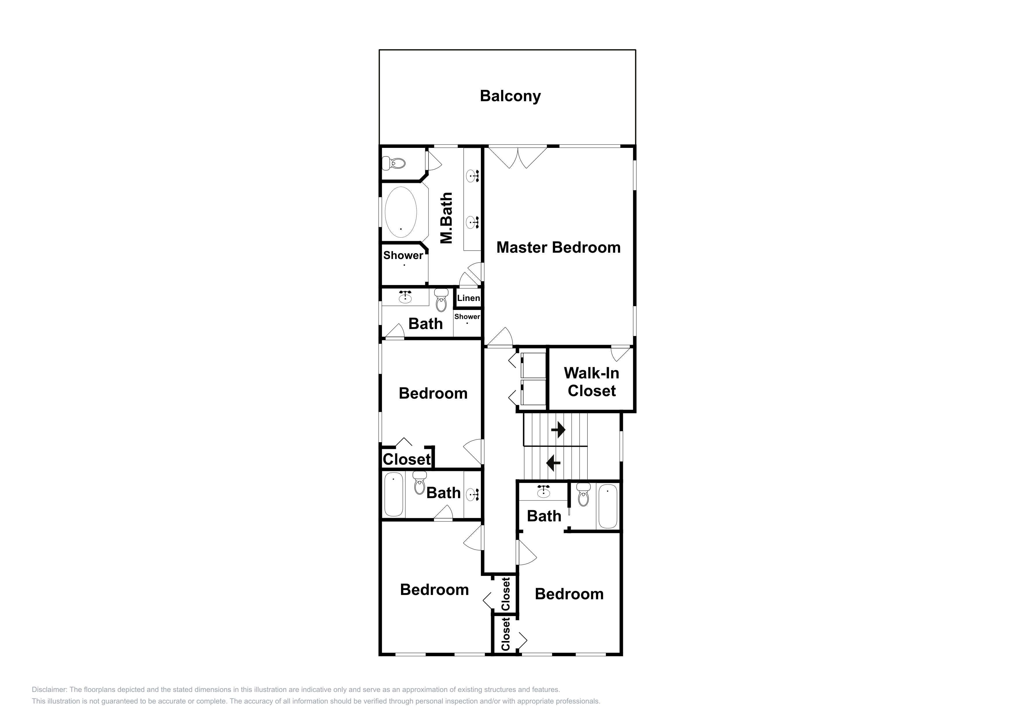 This 3rd-floor plan is an approximation and may not include the most recent information.