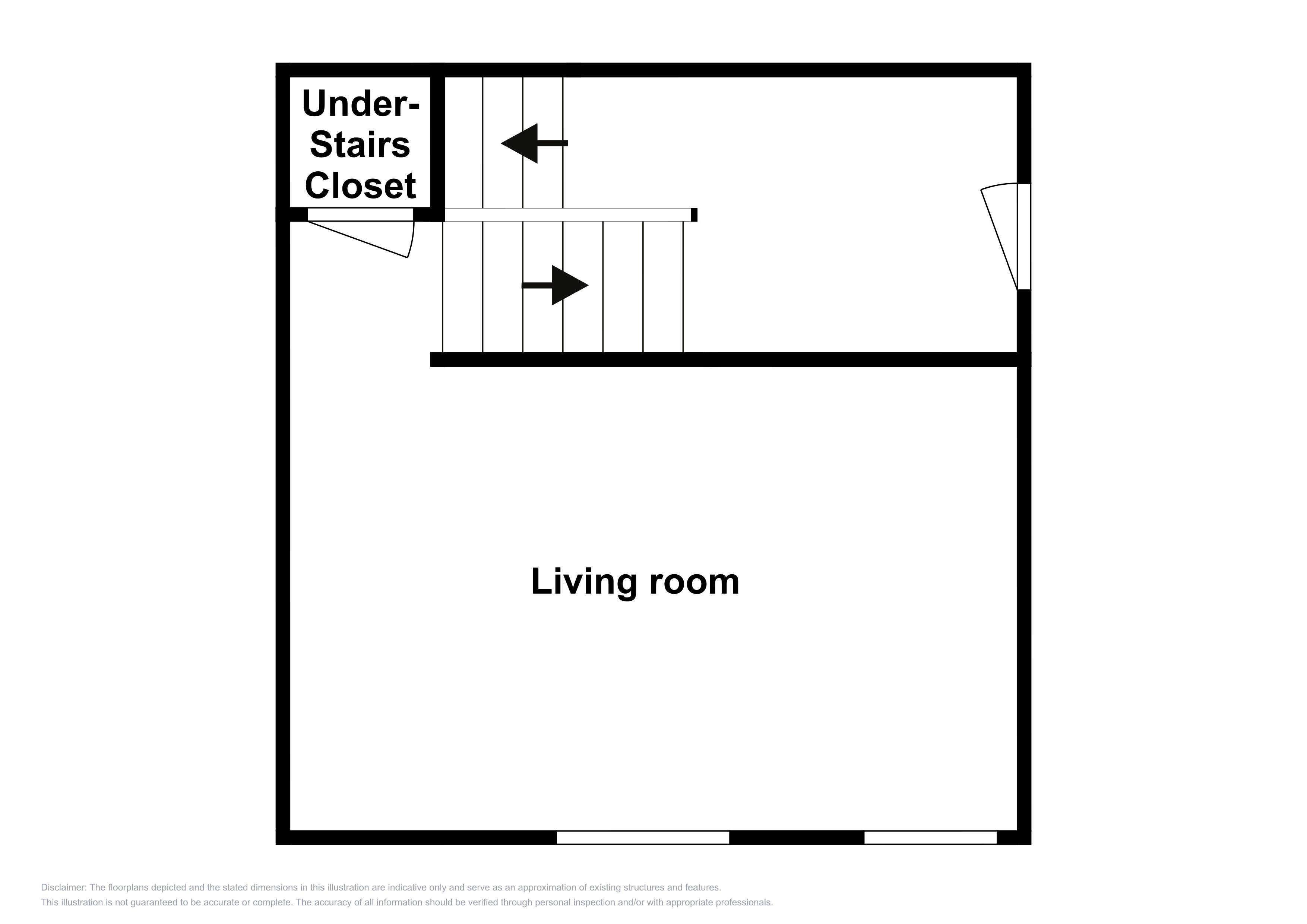 This floor plan of the lower level is an approximation and may not include the most recent information.