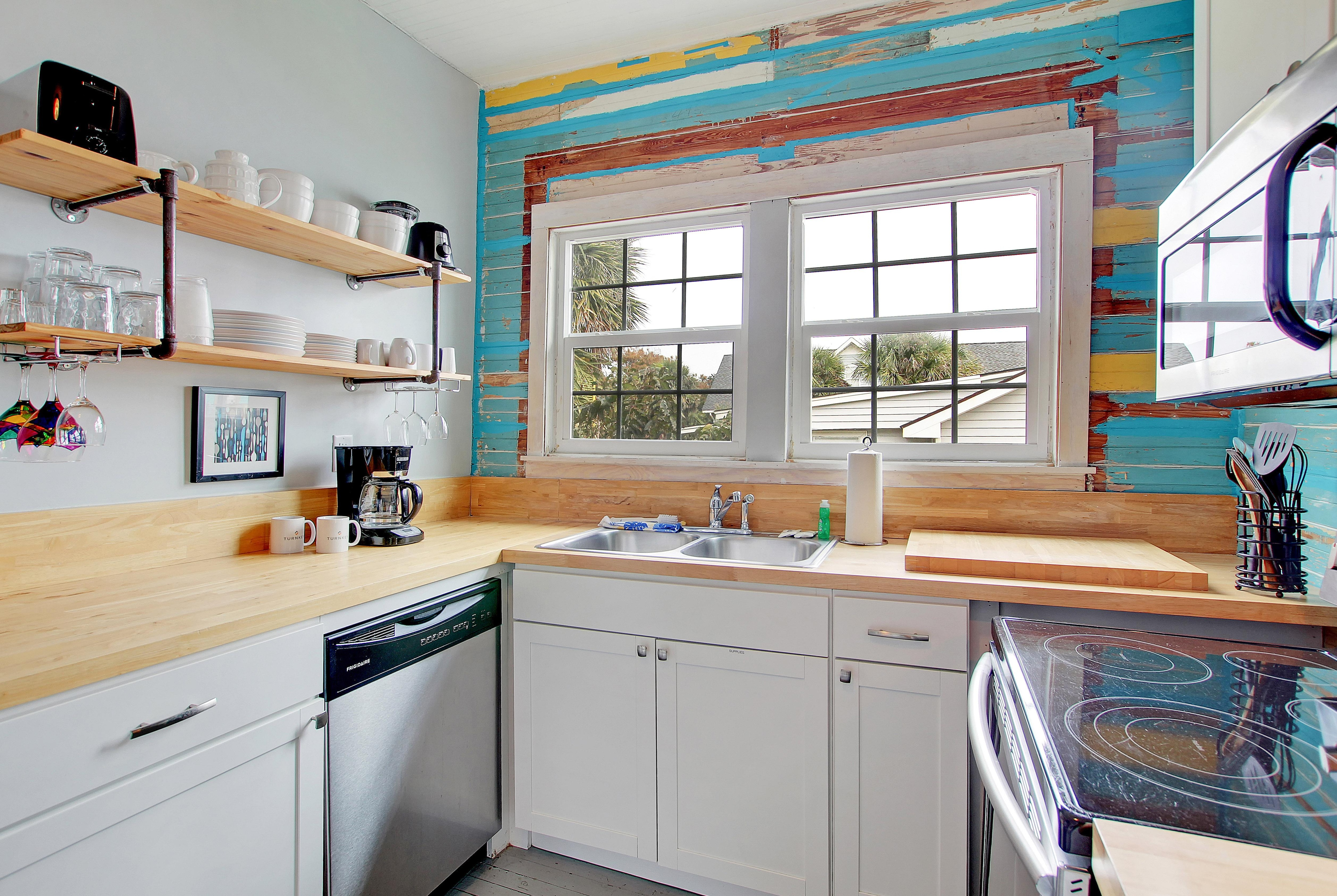 Bring home local ingredients to prepare beach-inspired meals in the well-appointed kitchen.