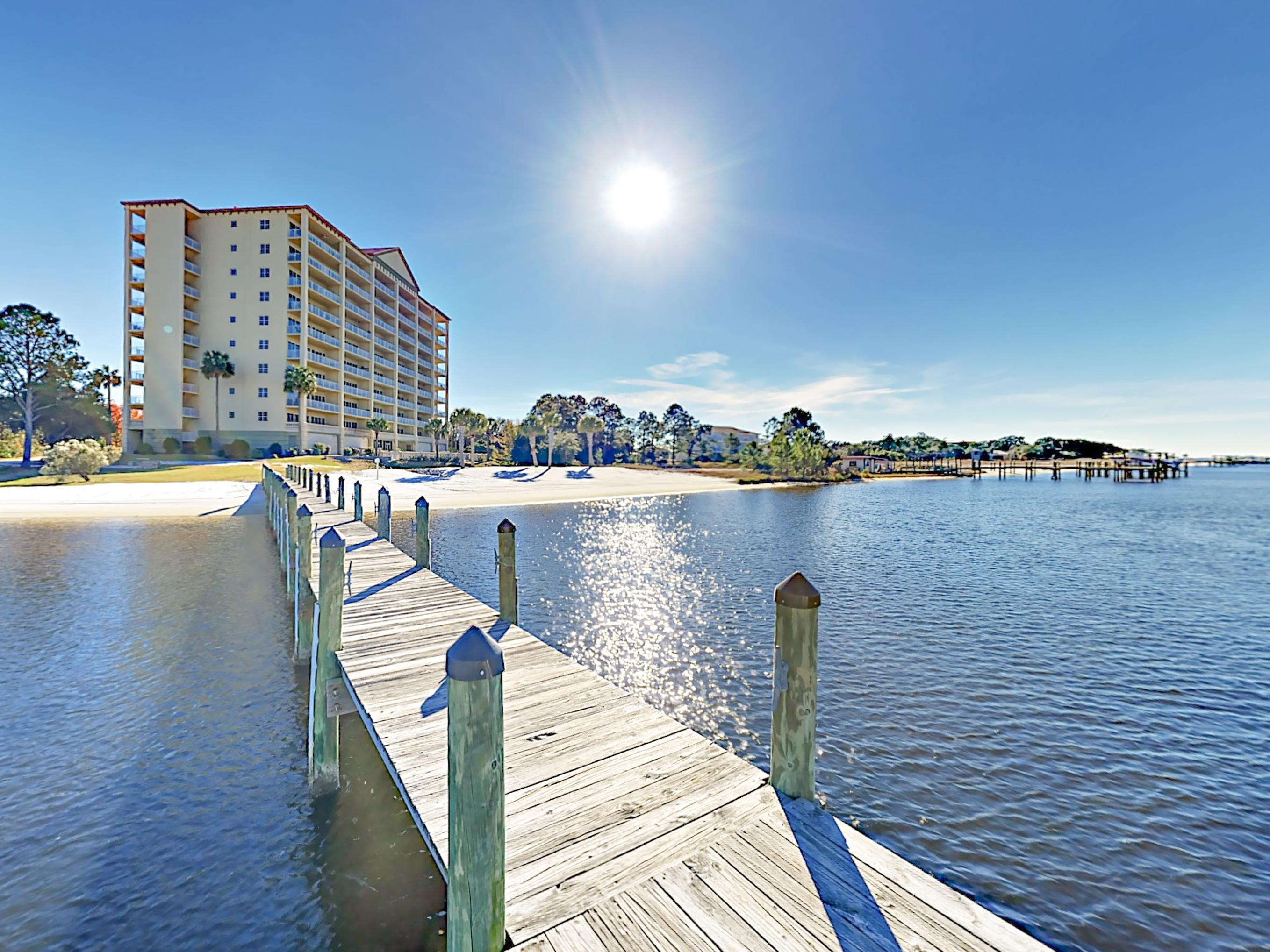 Your rental is located at Sailmaker's Place Condominiums-- less than 2 miles from Perdido Key Beach and Johnson Beach.