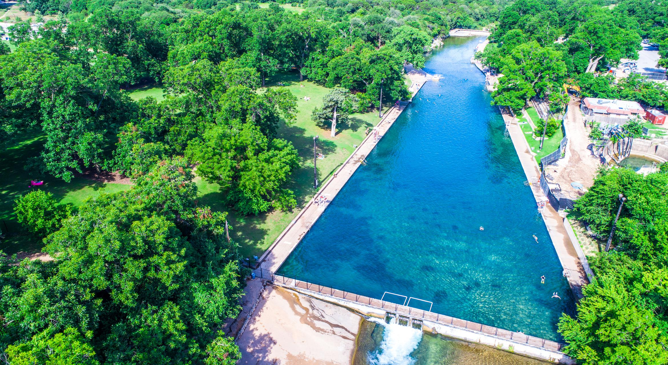 Pay a visit to famed Barton Springs in Austin.