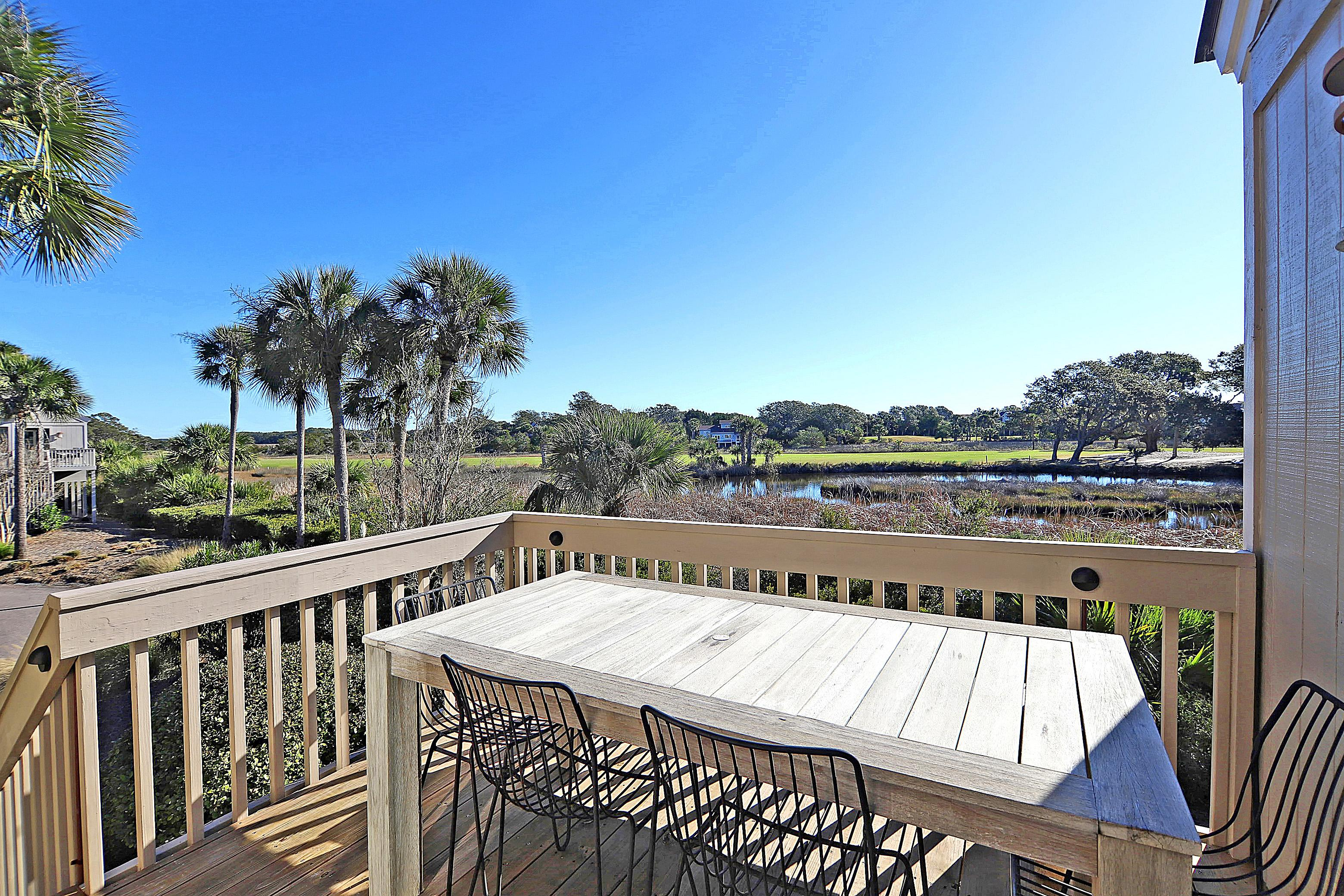 Admire gorgeous views of the marsh below each of your private decks.