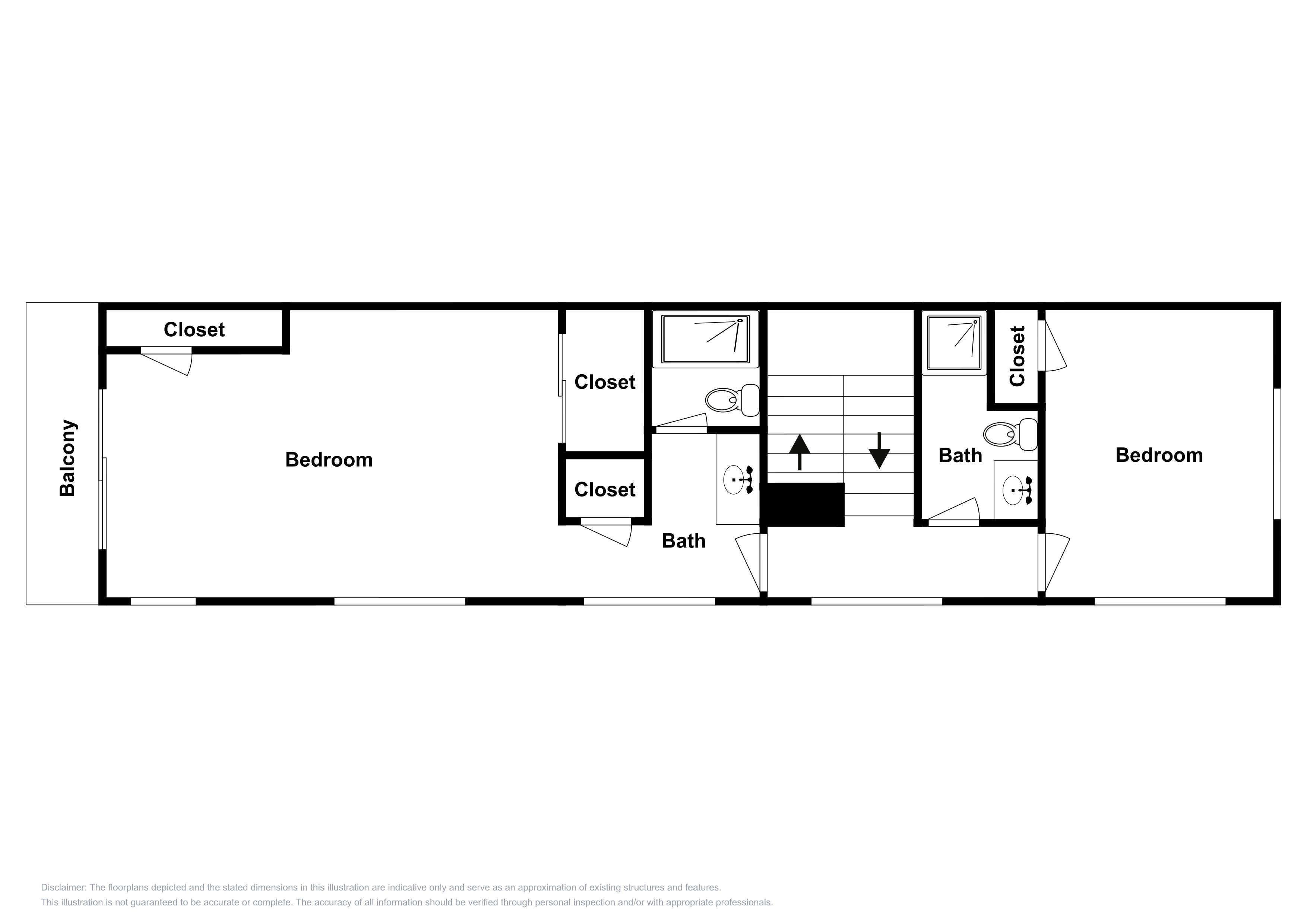 This 2nd-floor layout is an approximation and may not include the most recent information.