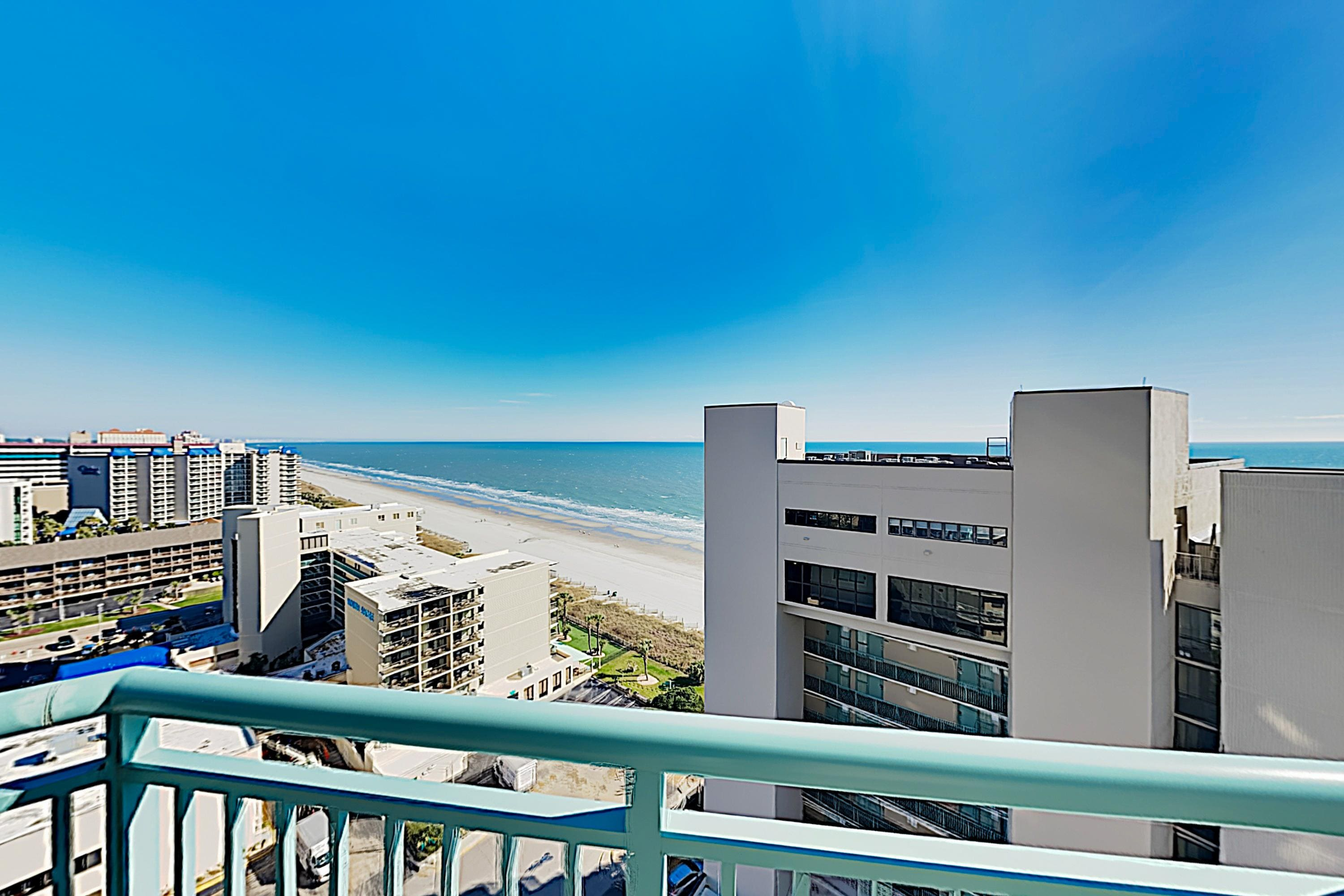 Take in soaring Atlantic views from the balcony.