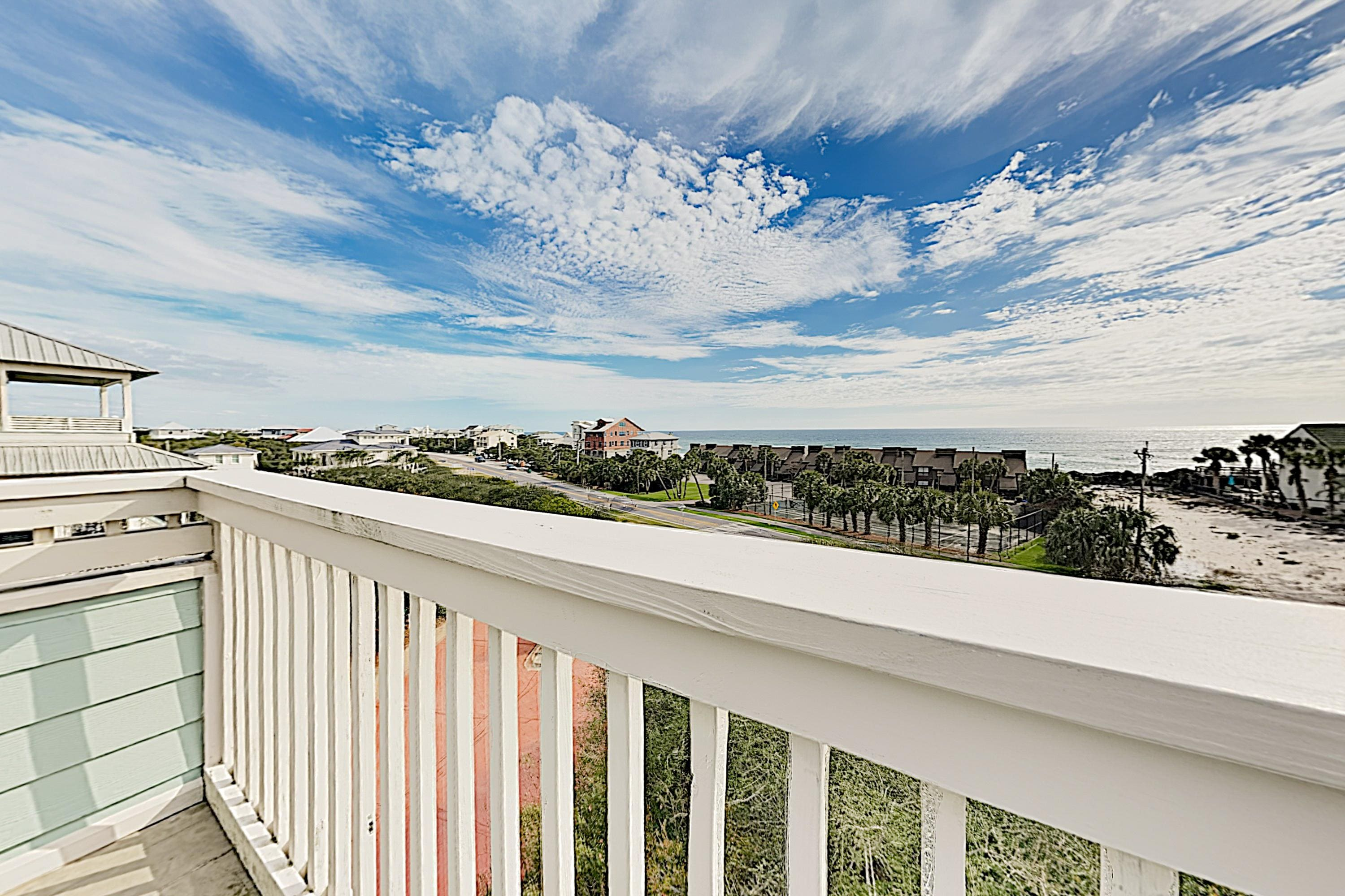 Admire sweeping Gulf views from the 1st balcony.