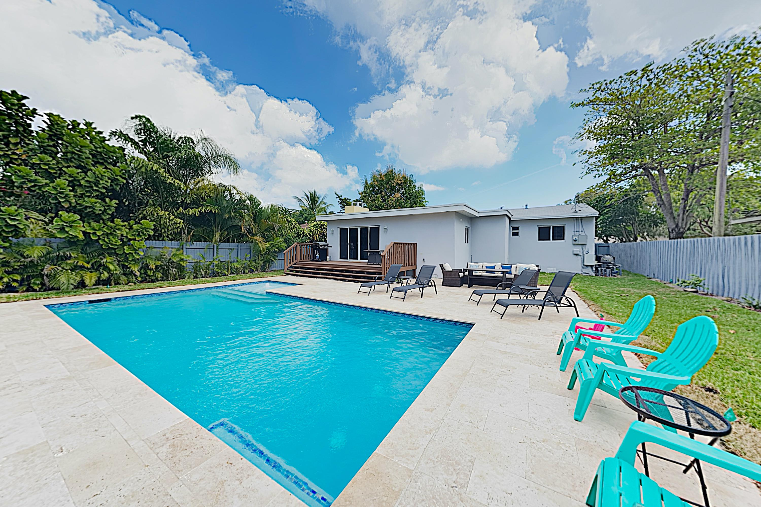 Bright, Updated Home with Heated Pool & Firepit; Close to Beach