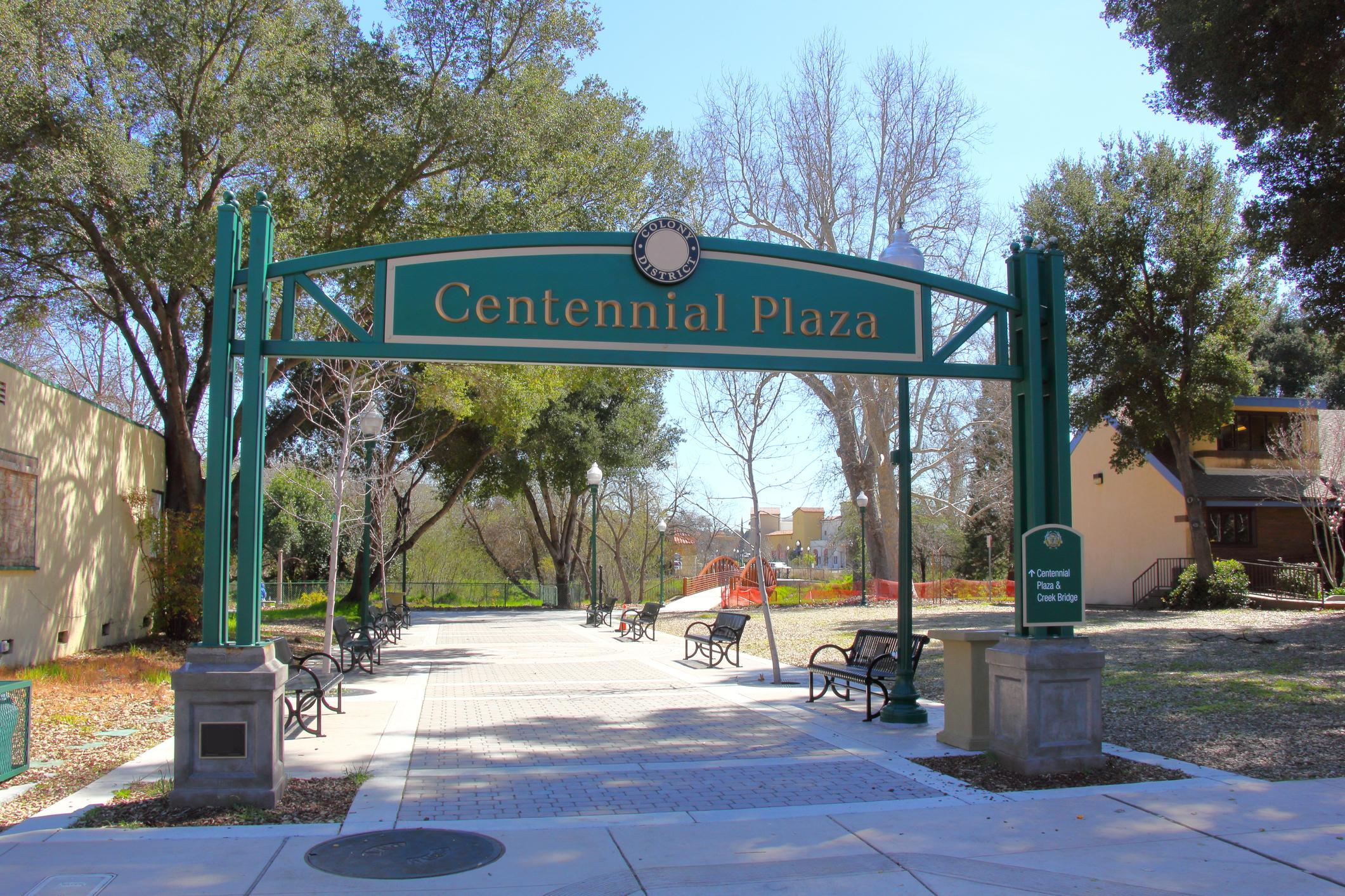 Centennial Plaza connects Sunken Gardens to the heart of downtown.
