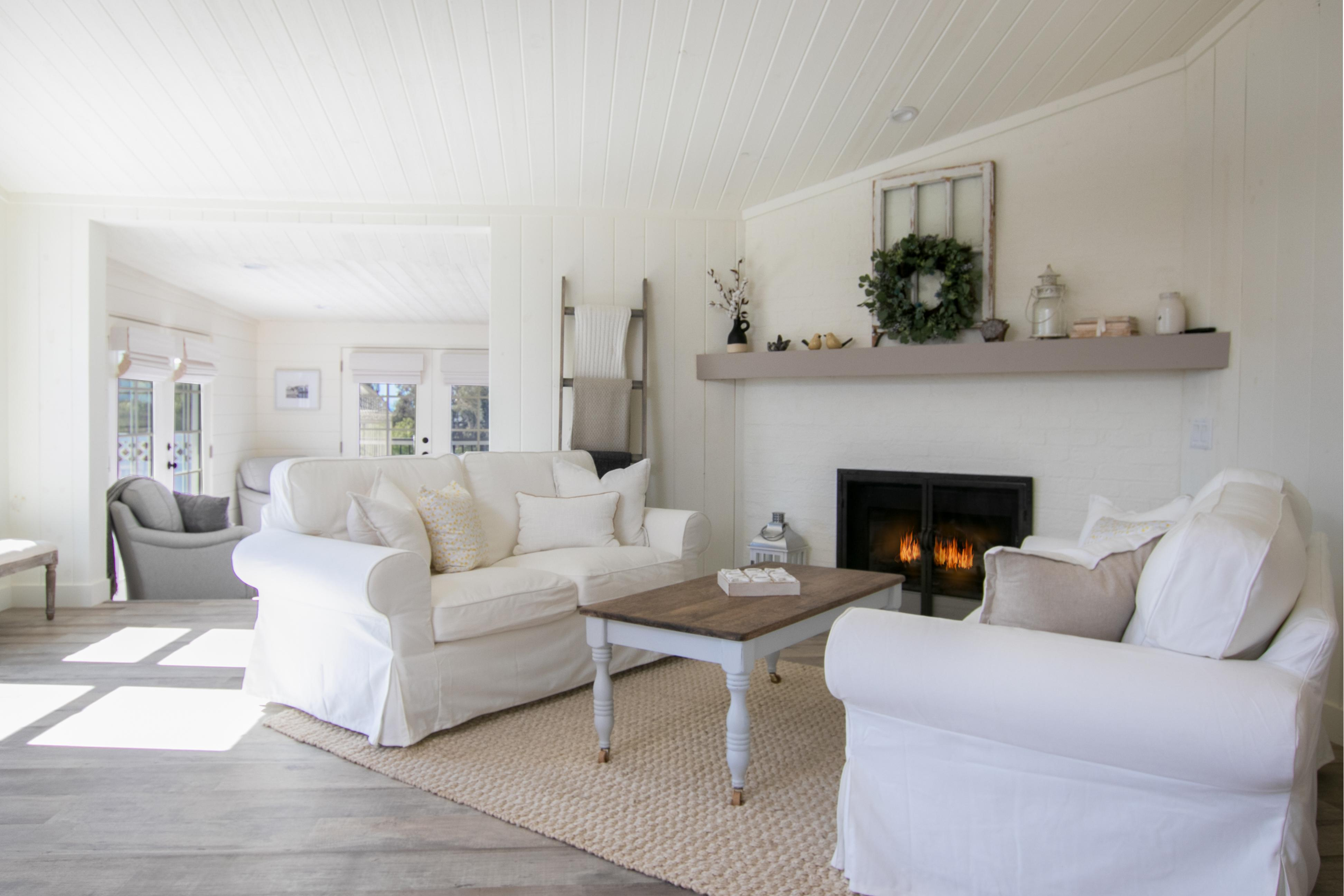 Main House: A gas fireplace provides additional warmth and allure to the living room.