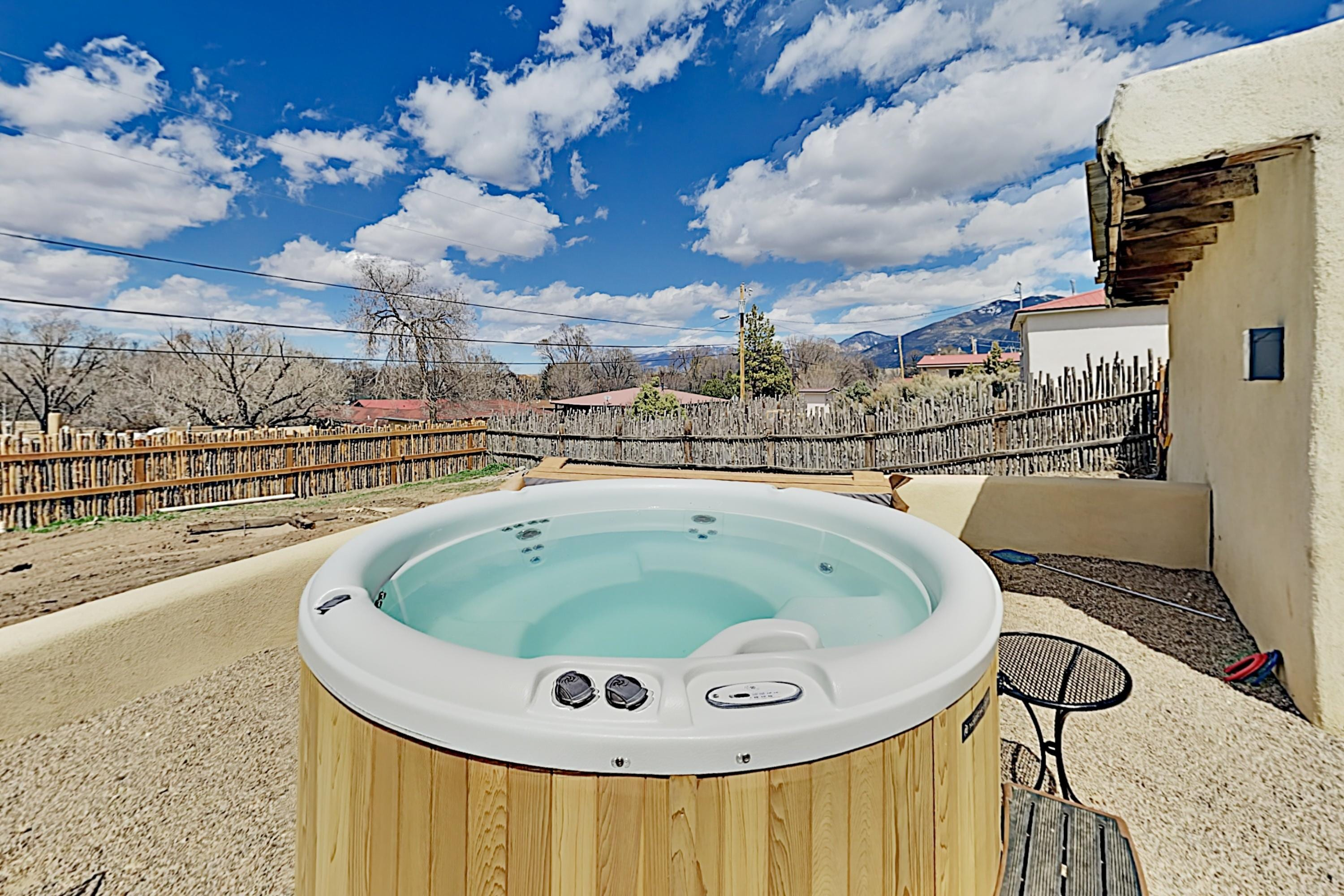 3 Blocks to Plaza! Modern Adobe w/ Hot Tub!