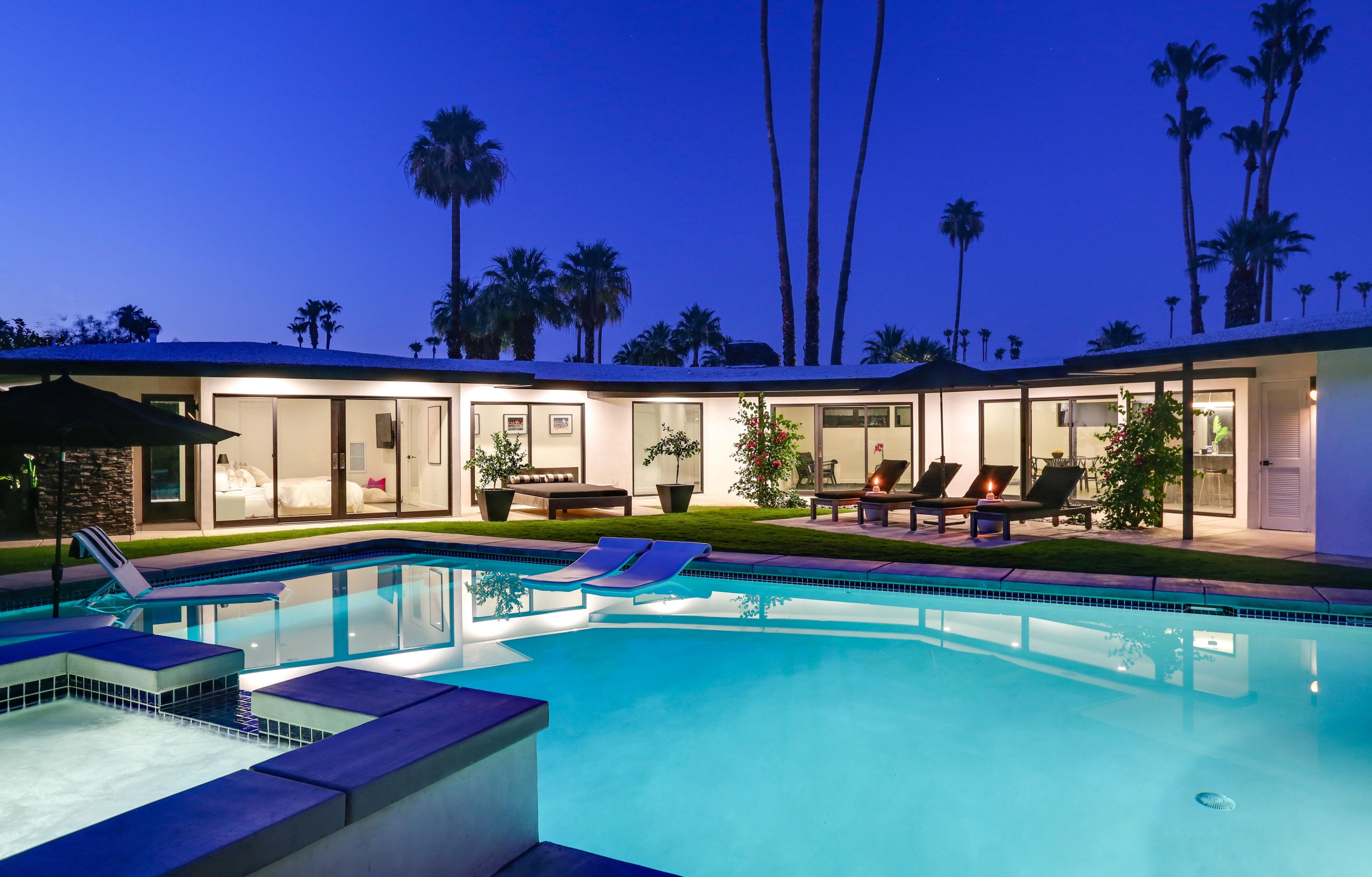 Property Image 1 - MID-CENTURY MODERN MARVEL With PRIVATE POOL and SPA