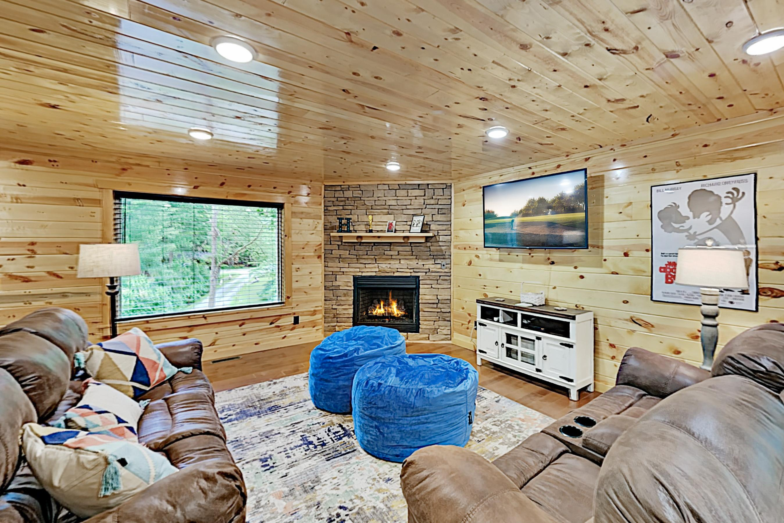 Property Image 1 - Serenity Now Cabin with Hot Tub, Games and Forest View