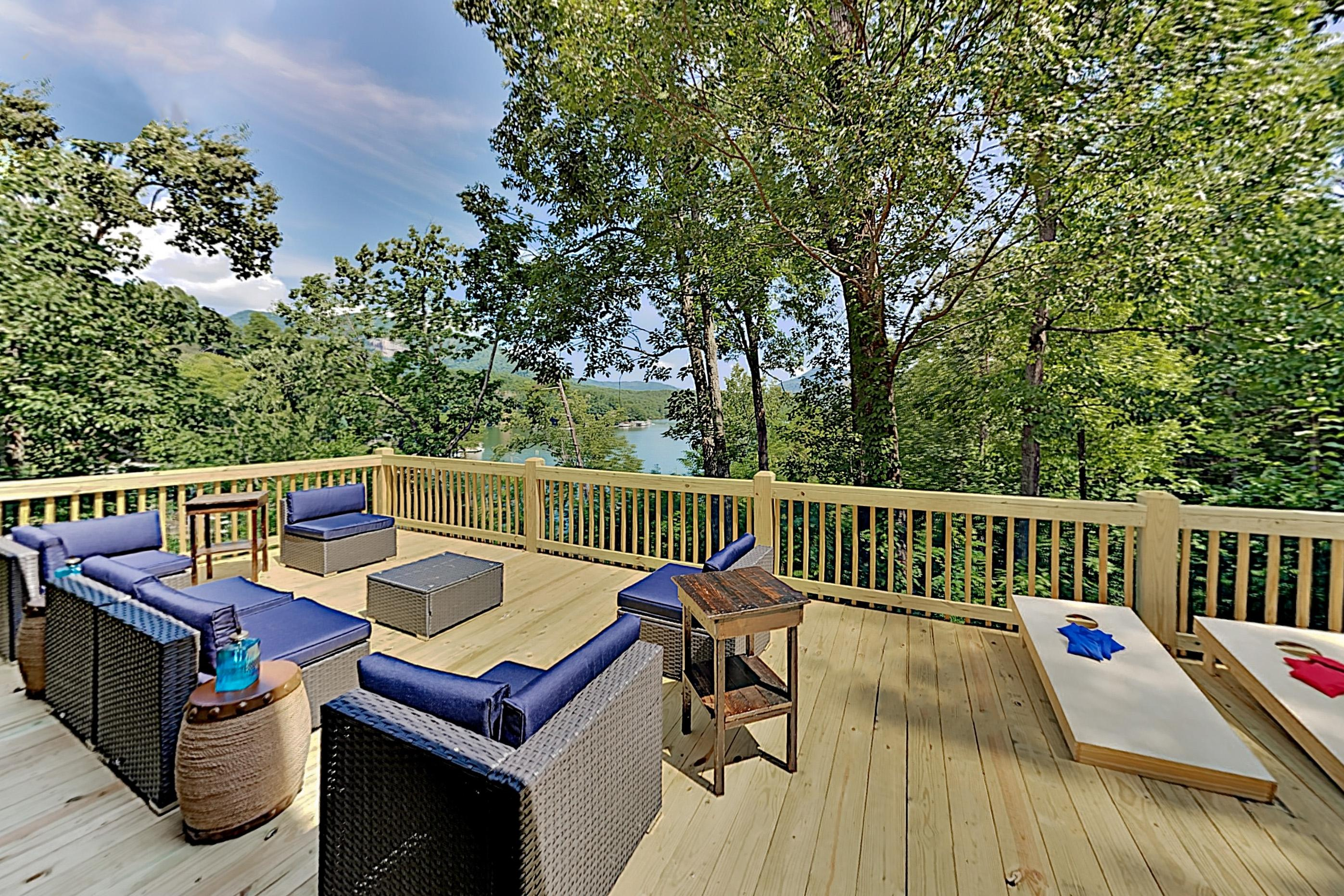 Property Image 1 - Spacious Lakefront Retreat - Dock & Mountain Views