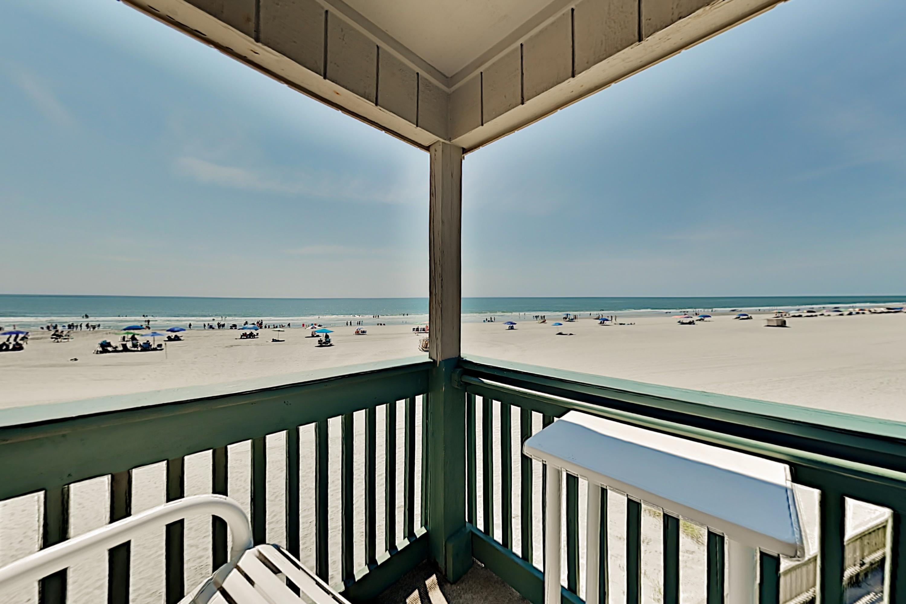 Ocean-View Condo with Balcony - Steps to Beach!