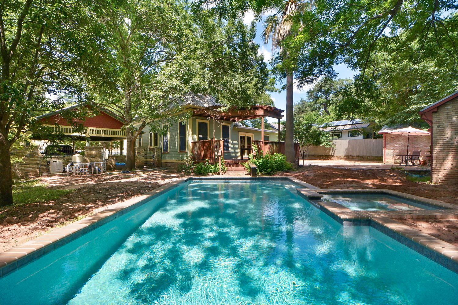 Welcome to Austin! The newly built pool and spa are a focal point for this beautiful rental.