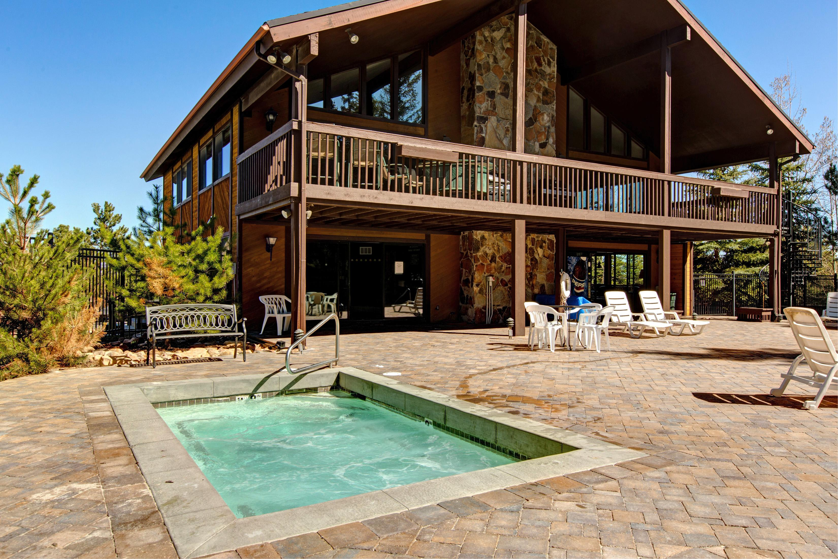 Relax in the shared hot tub after a fun-filled day exploring the mountain.