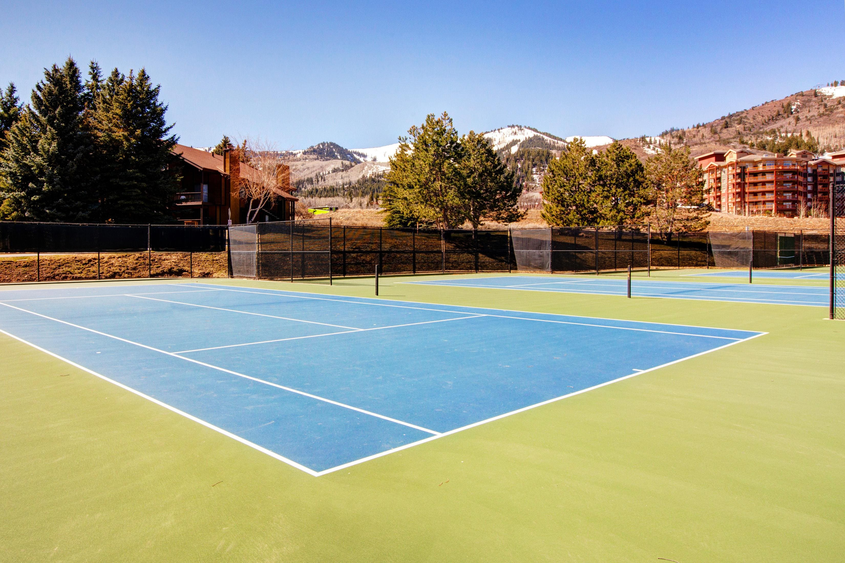 Practice your forehand at the on-site tennis courts; open in the summer and by arrangement with a key.
