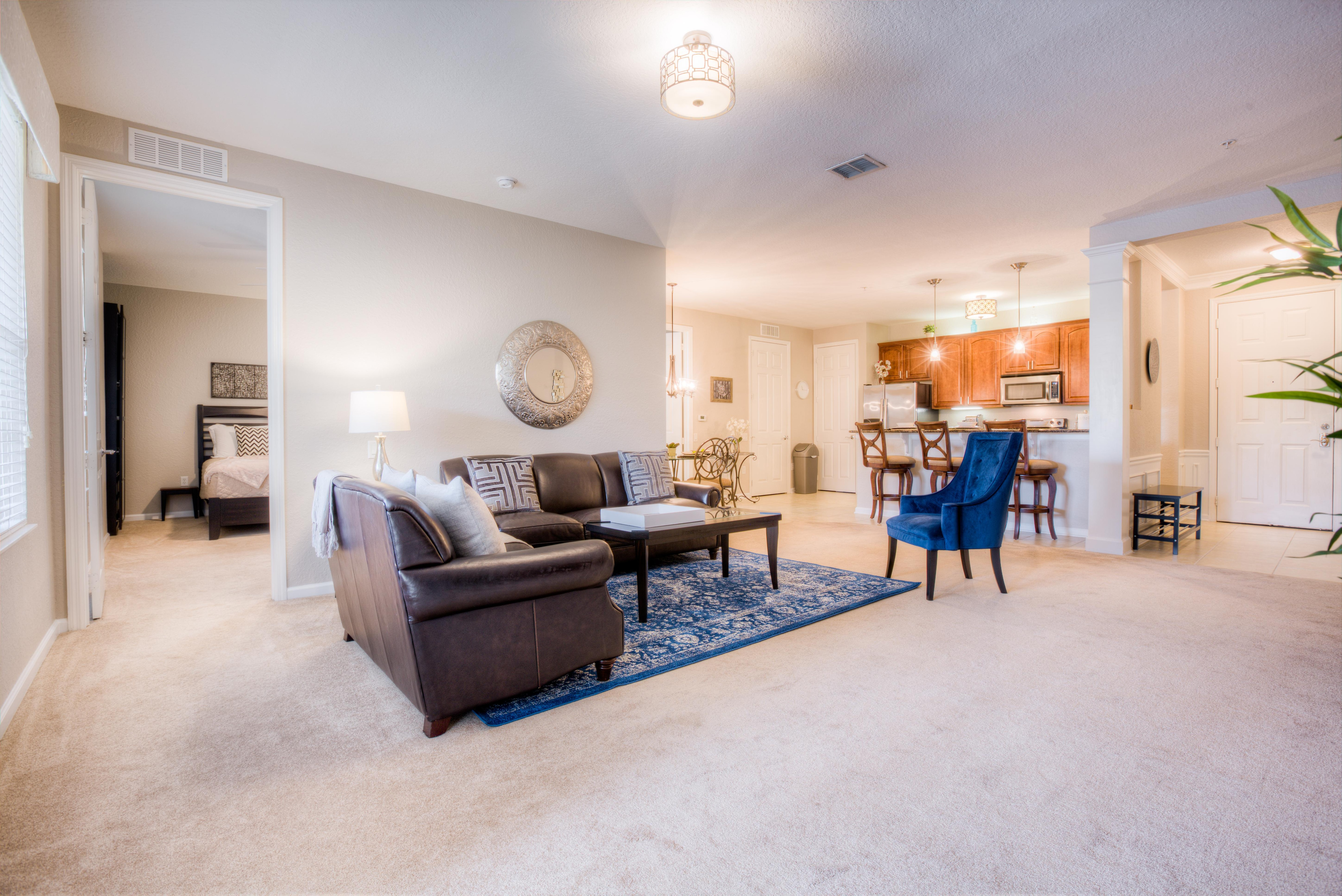 Welcoming Condo with Private Balcony; Pool, Hot Tub, Gym Access