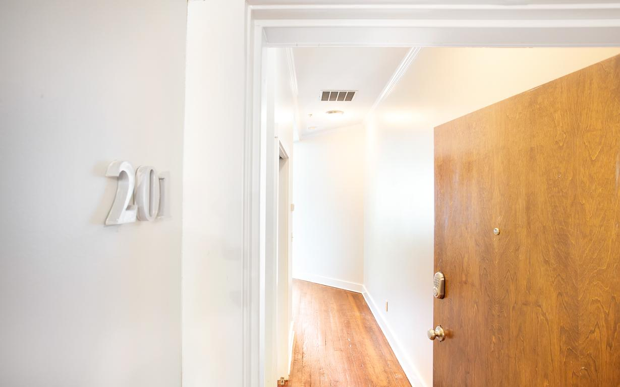 Enter into your apartment, with keyless entry.