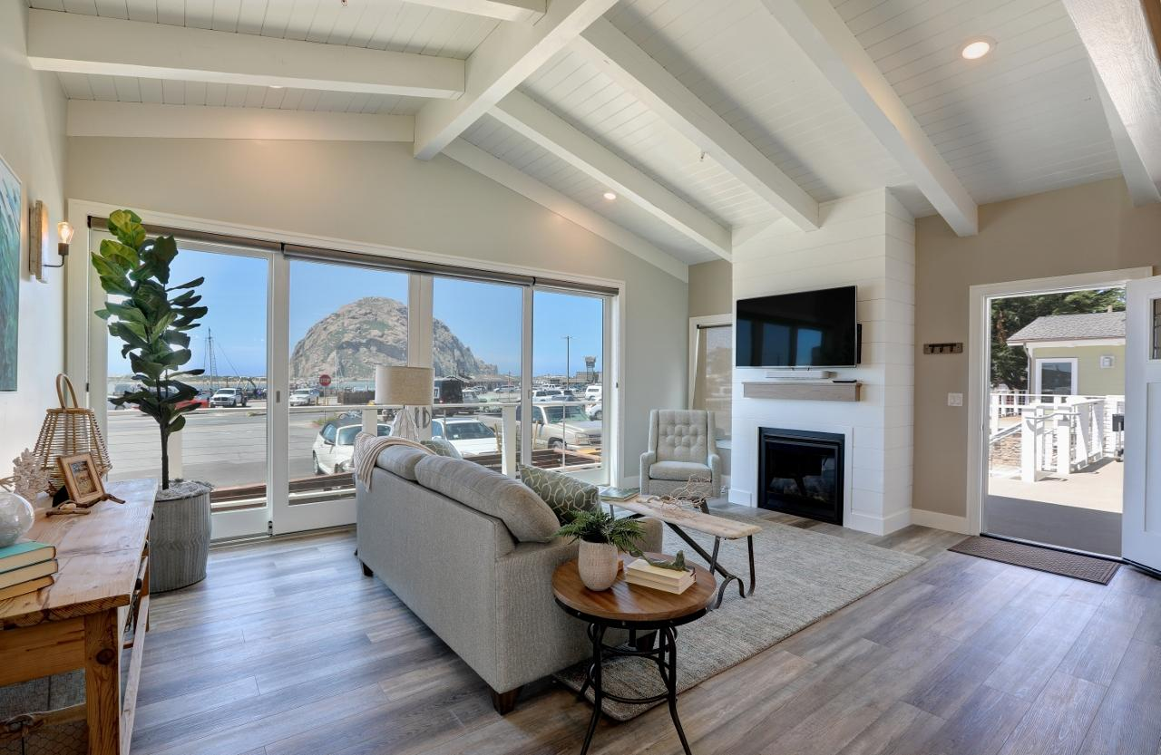 Polished Peaceful Condo with Morro Rock View in Morro Bay