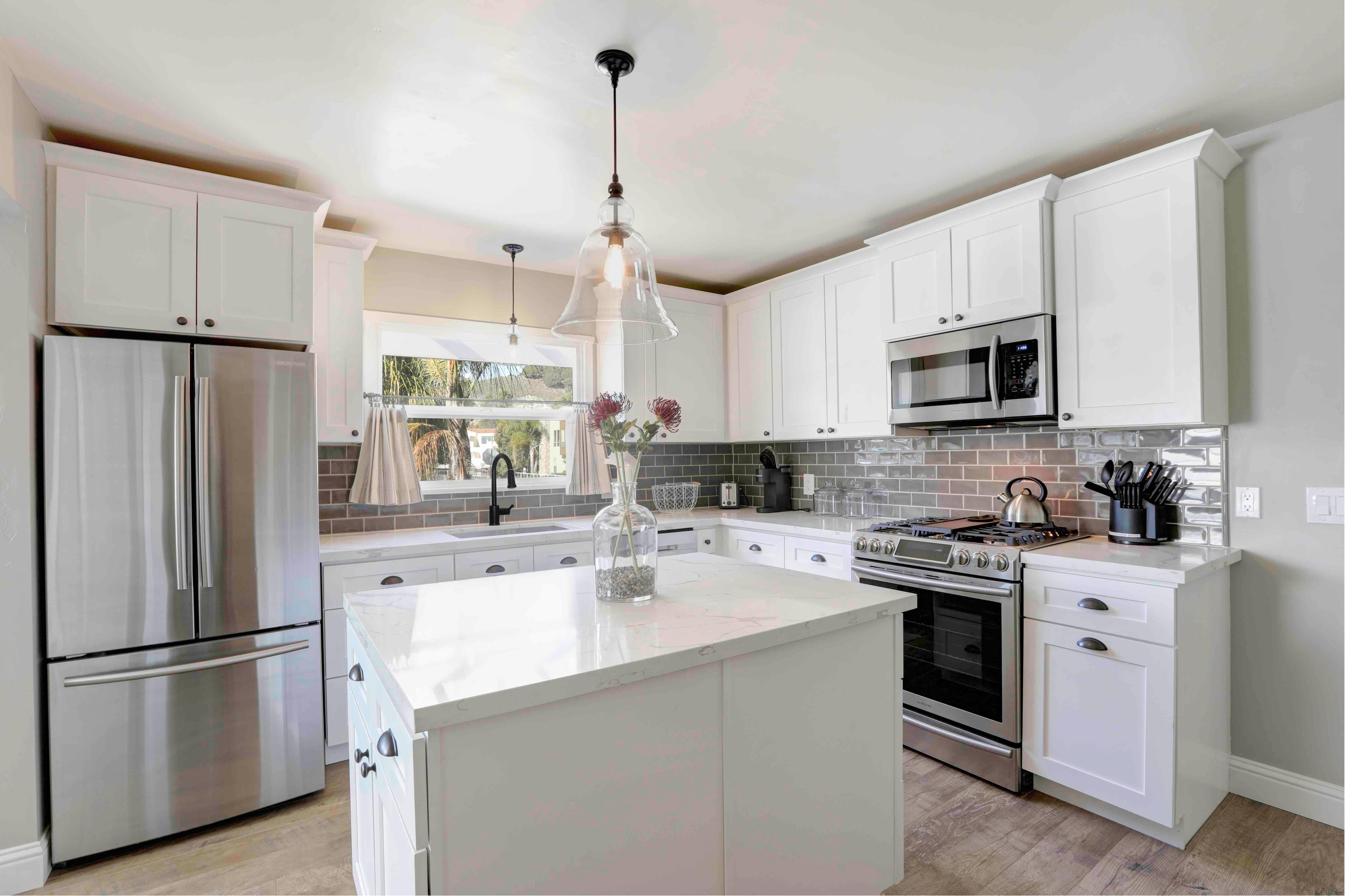 Remodeled cottage. The kitchen has chef grade appliances.