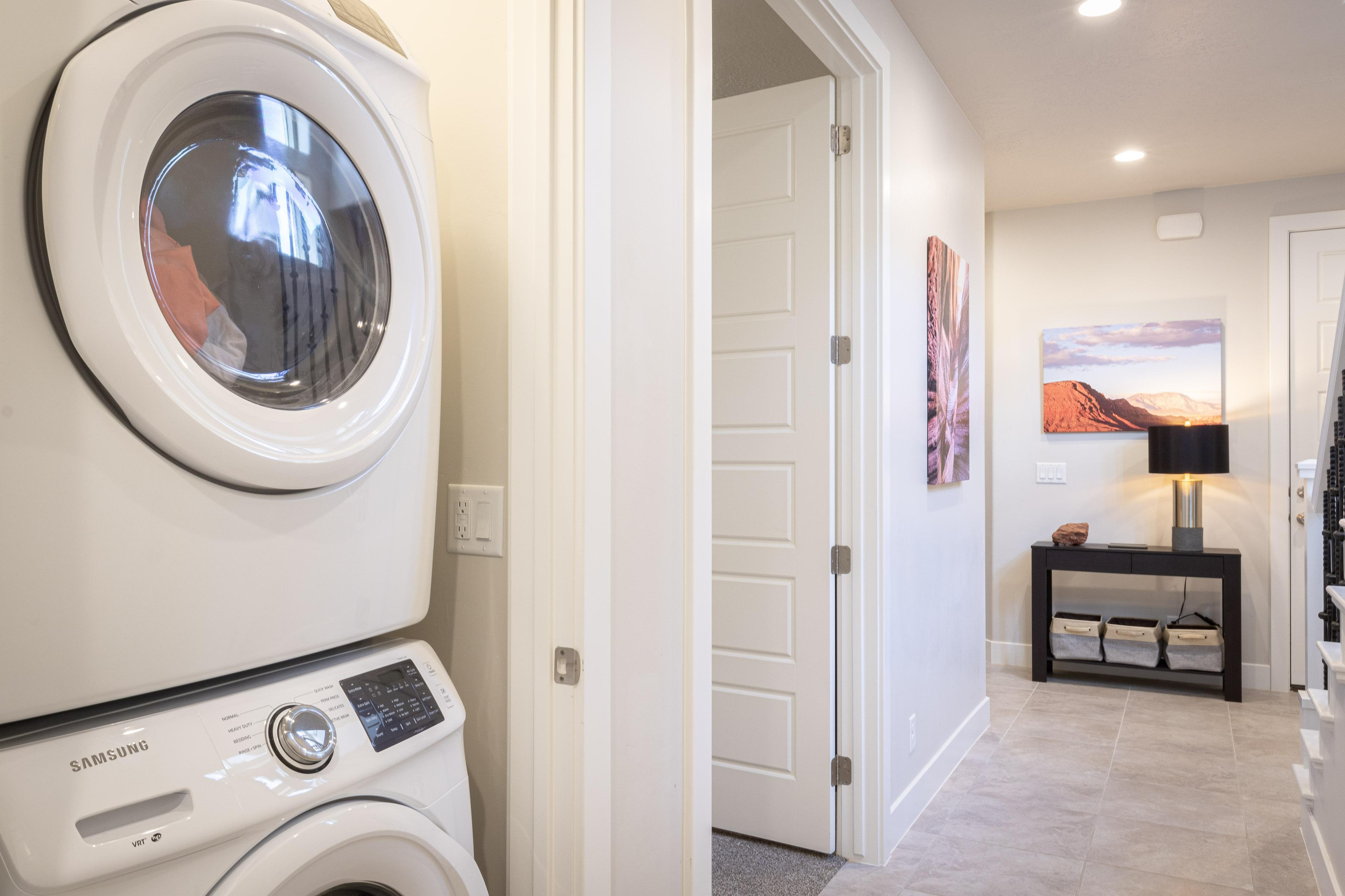 This home includes a washer and dryer to accommodate all your needs.