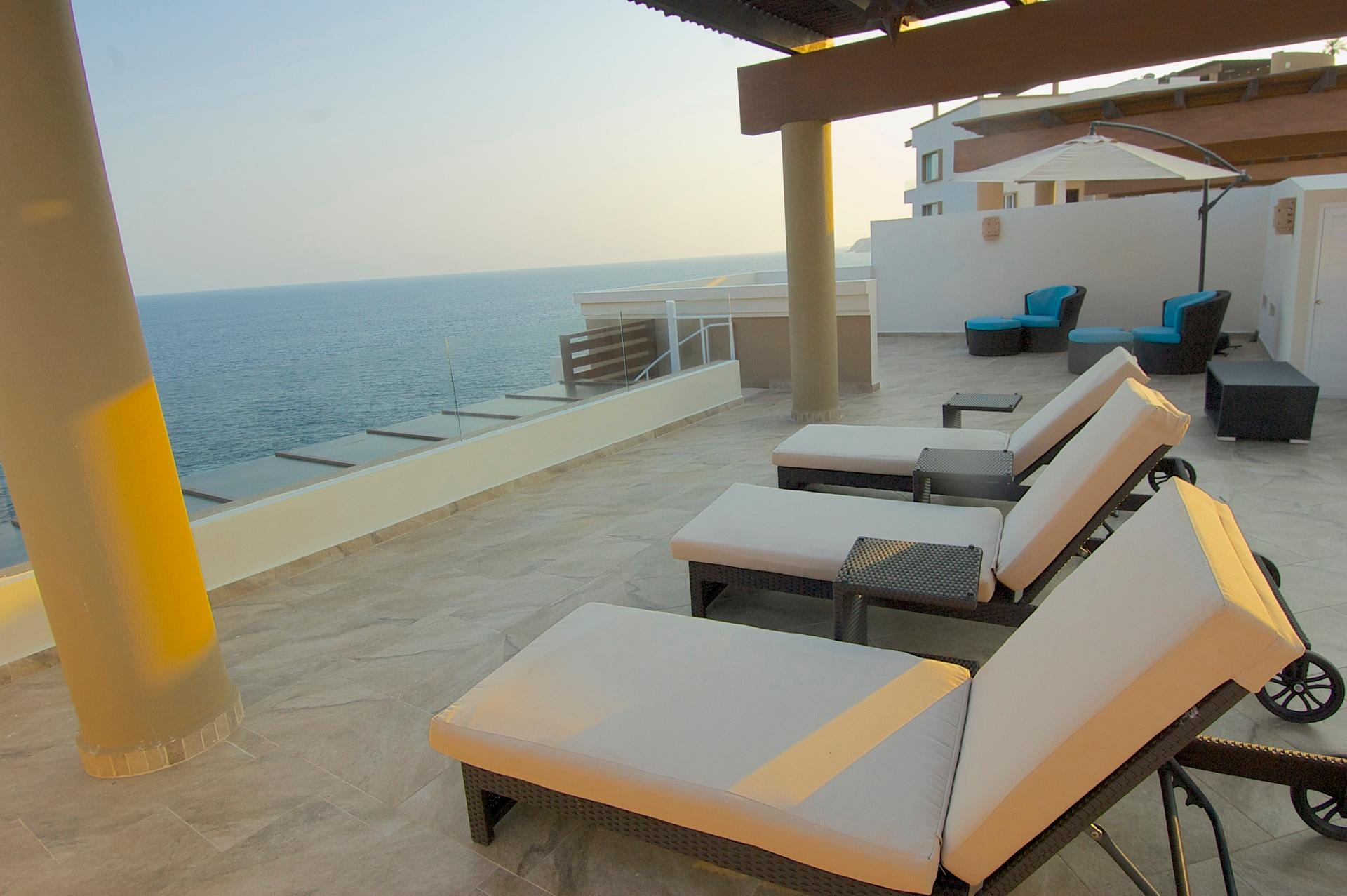 Panoramic Ocean and Mountain Views from Private Penthouse Terrace