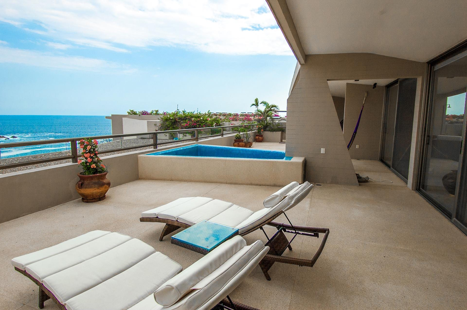 Large Private Terrace with Sun-Soaked Splash Pool