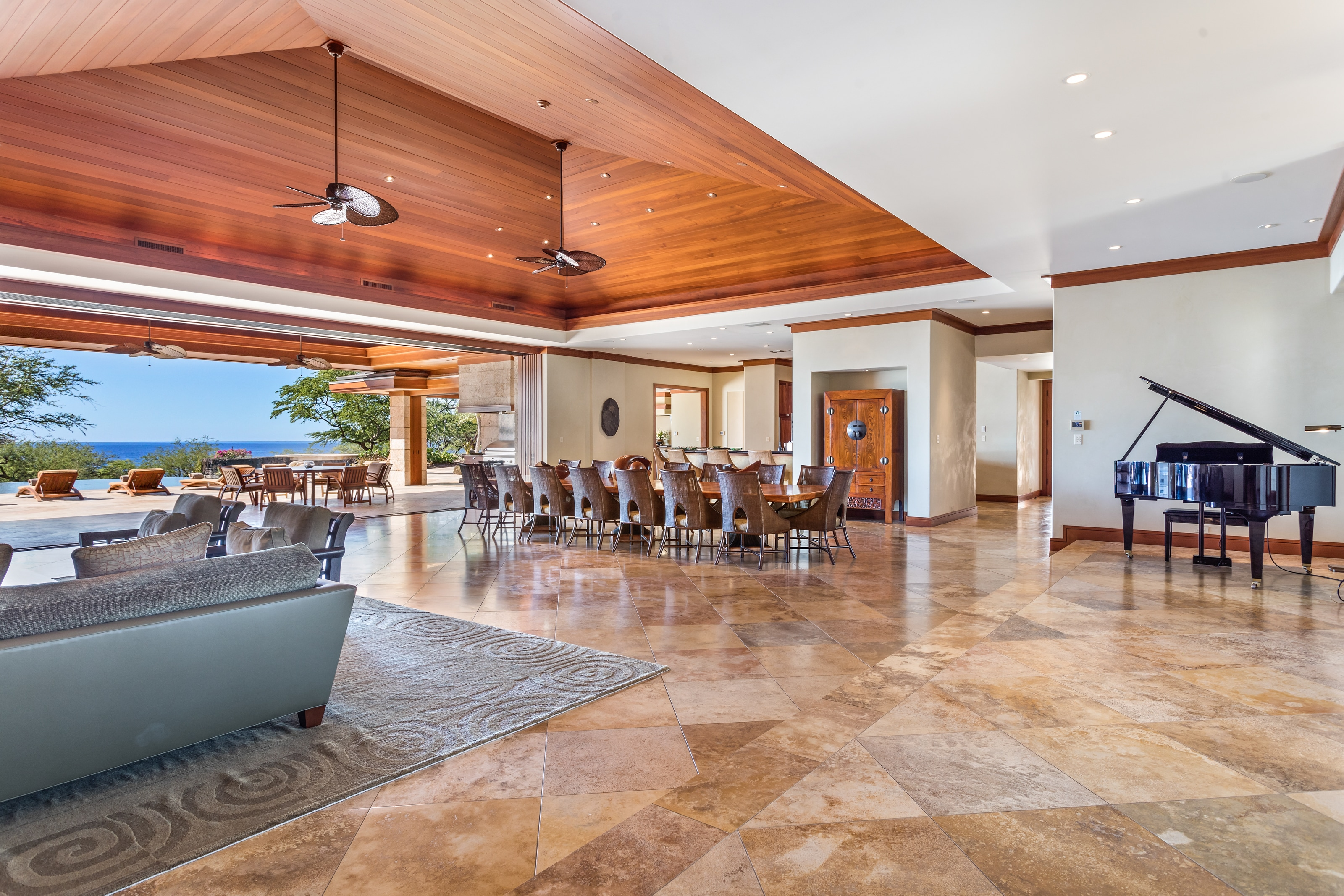 7-Bedroom Oceanfront Estate with Dual Master Suites, Home Theater, Pool, and Lanai