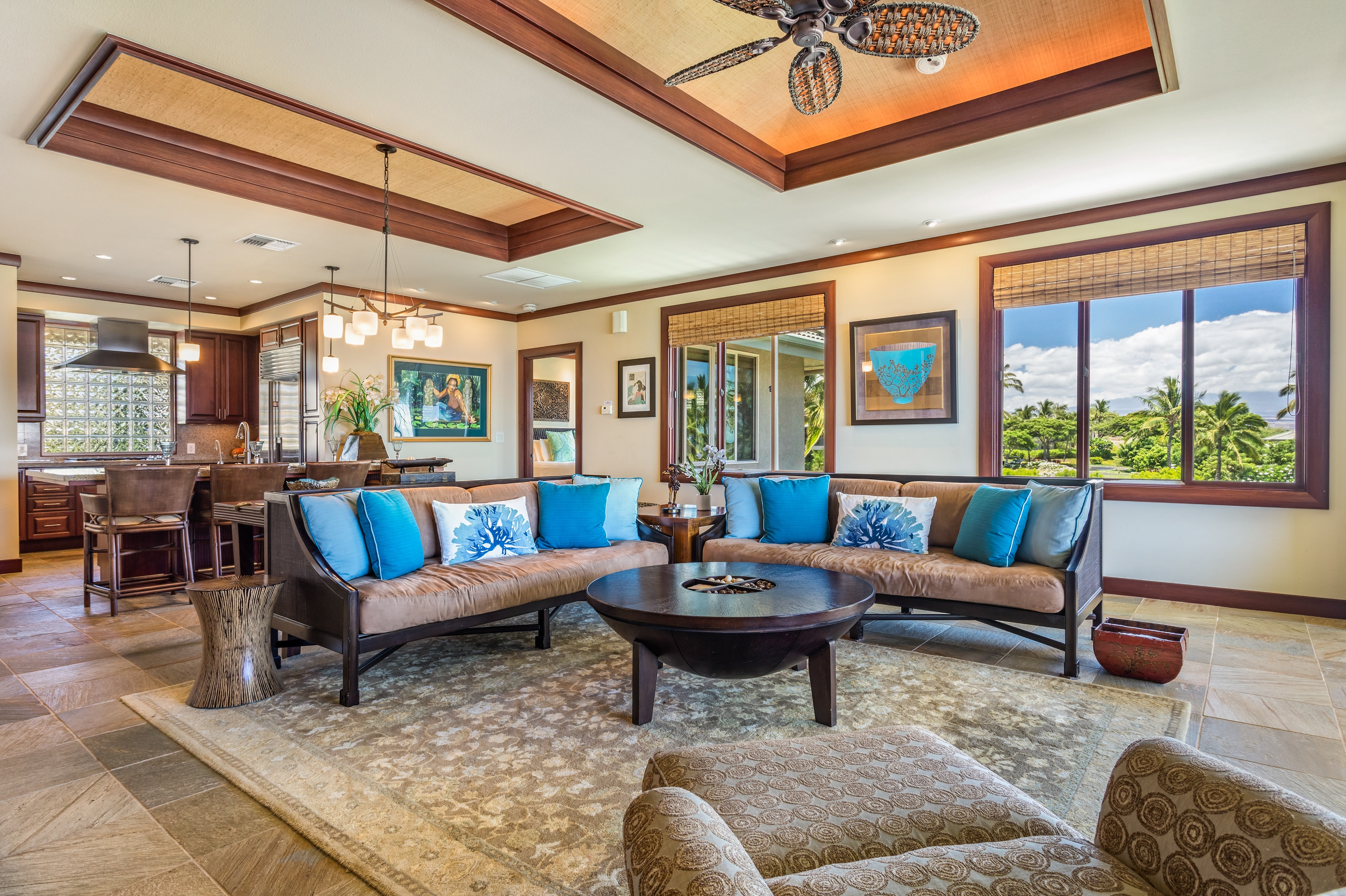 Upper-Level Residence with Unobstructed Ocean & Golf Views