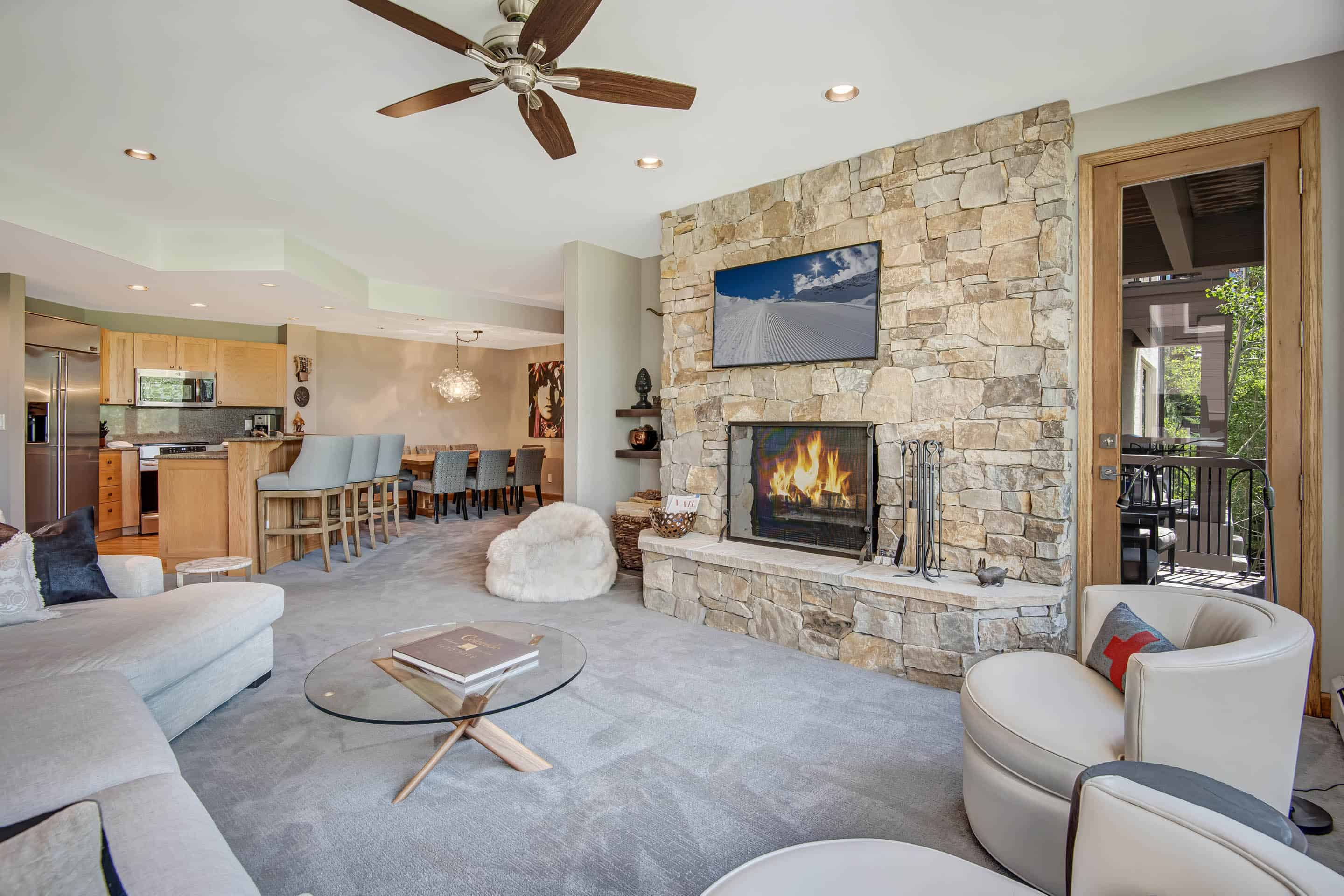Property Image 2 - Light-Filled, Updated Condo with Fireplace & Ski-In/Out Access