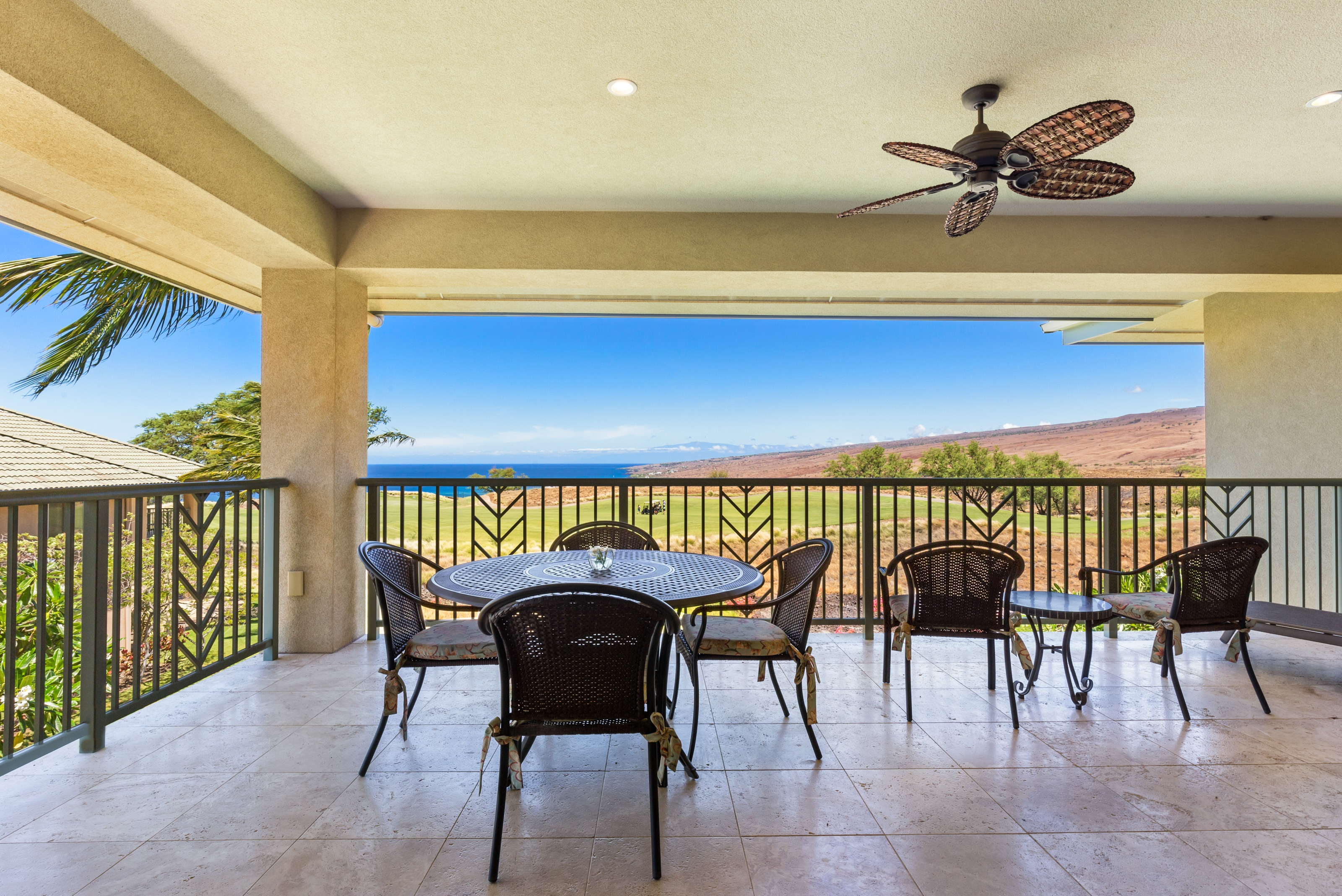 Sweeping Ocean & Golf Vistas with Lanai and Dual Master Suites