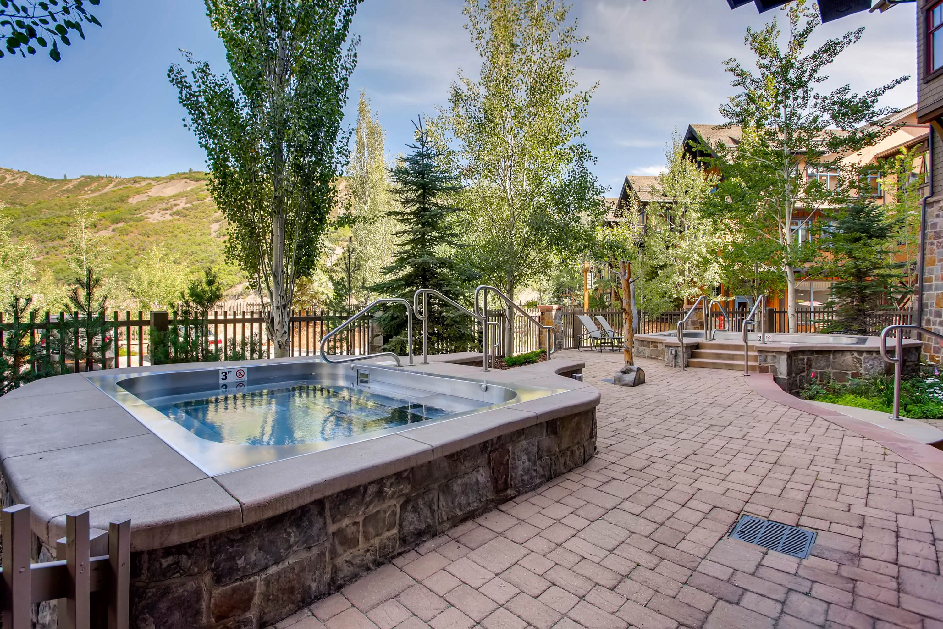 Spacious condominum with large private balcony and down valley views