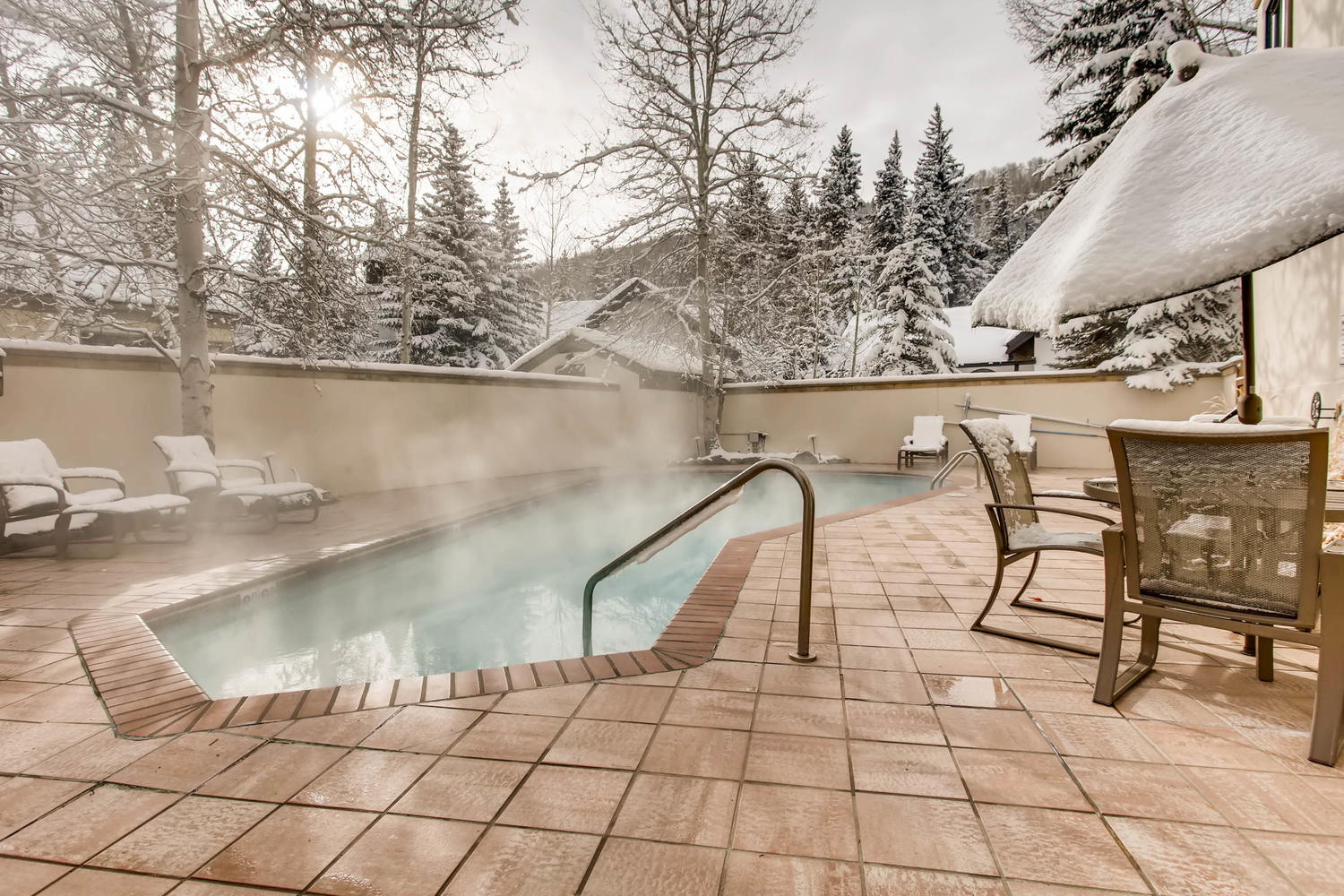 Elegant Vail Condo with Pool and Mountain Views
