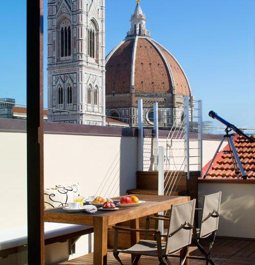 Top-Floor Apartment Featuring Sweeping Views Over Central Florence