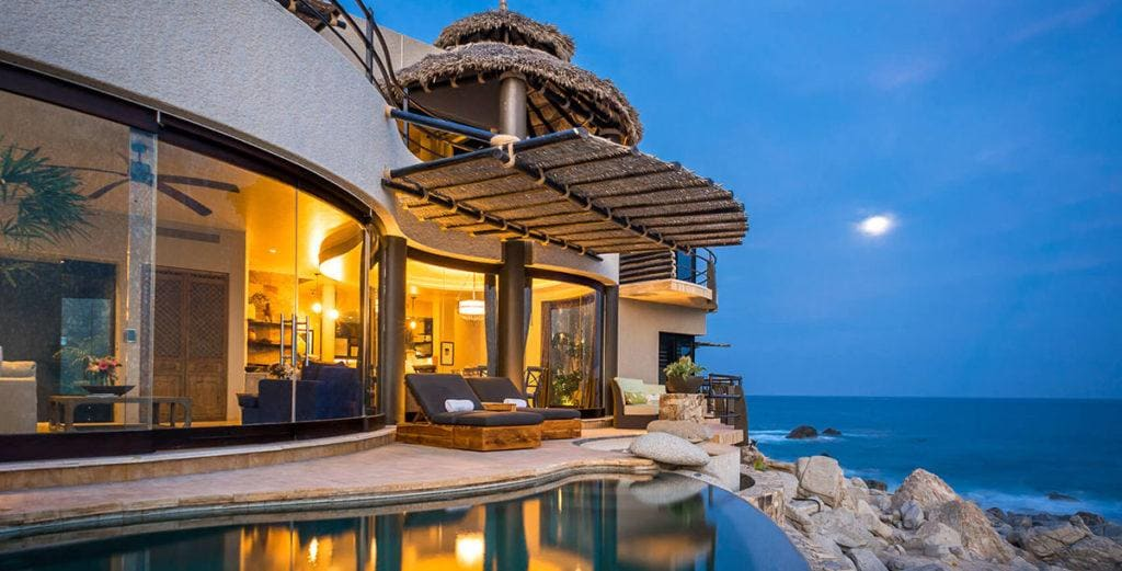 Design Forward Home with Rocky Oceanfront