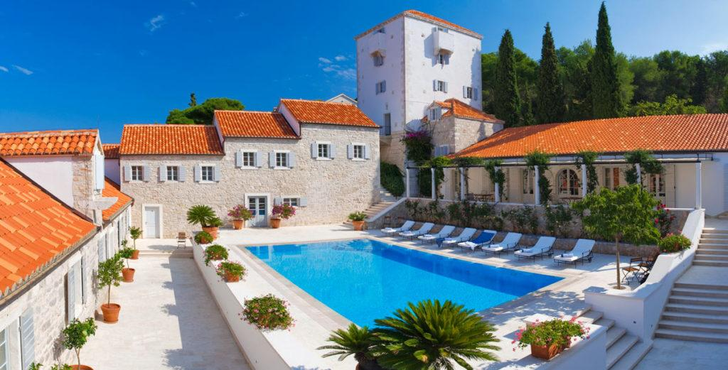 Property Image 2 - Island Solta Castle with Spacious Central Courtyard