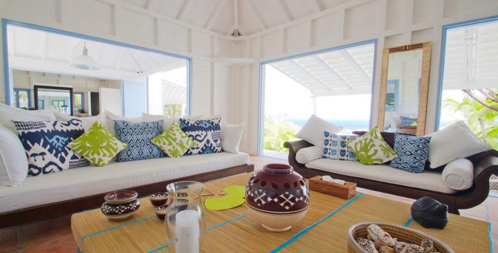 Tranquil Creole-Style Villa with Japanese Gardens in Gustavia