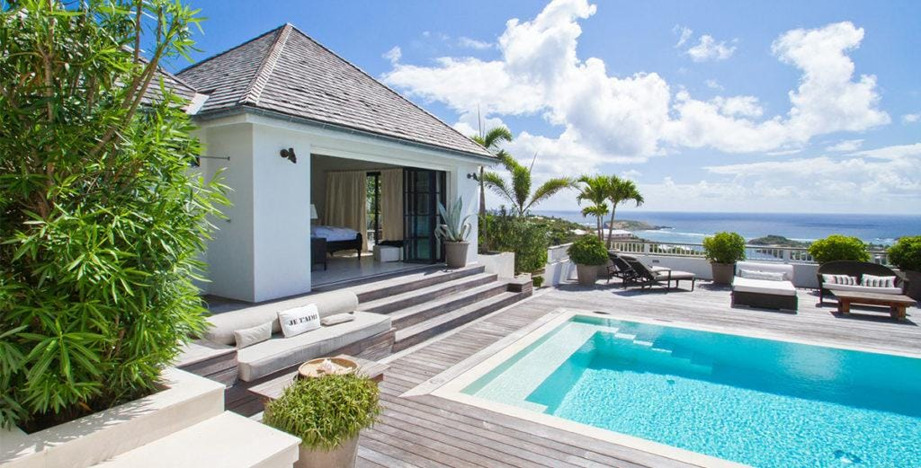 Chic Swedish Villa Design with Furnished Gazebo in Marigot