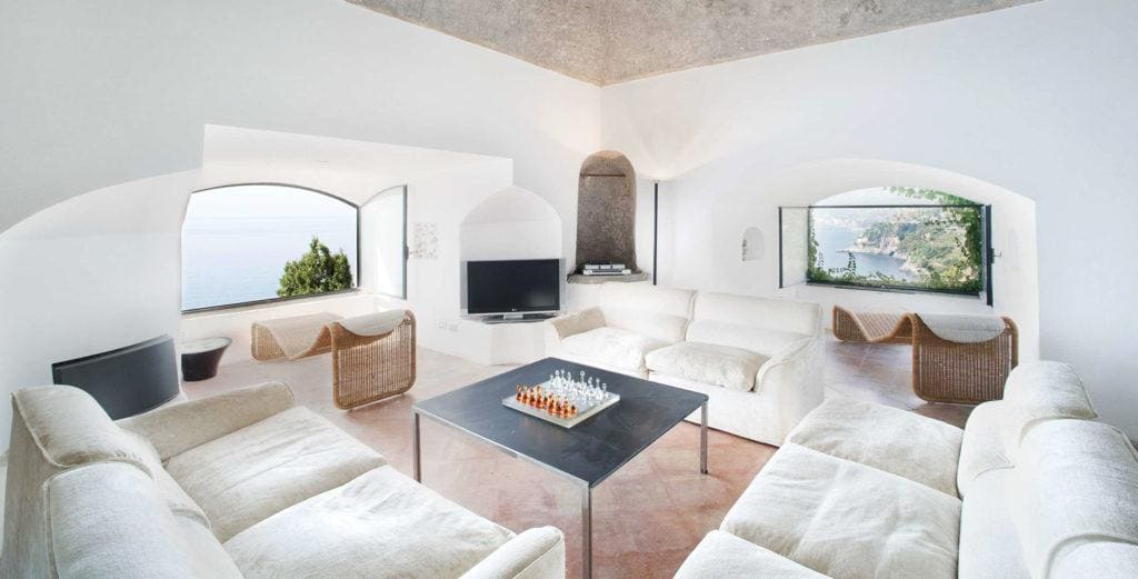 Fully-Renovated Seaside Villa with Ancient Watchtower Near Maiori