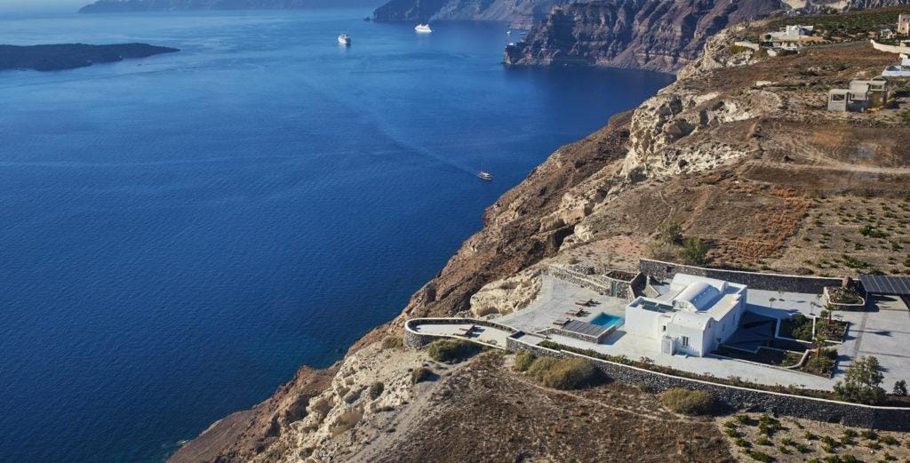 Property Image 1 - Palatial Estate Villa with Spectacular Caldera, Coastline and Sunset Views