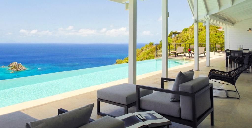 Property Image 2 - Malibu-Beach-Meets-Caribbean Villa with Spacious Tiled Patio in Colombier