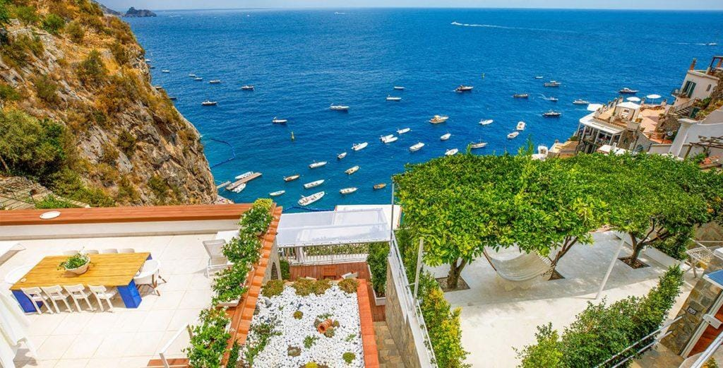 Well-Appointed Cliff-Side Villa Just Steps from the Beach