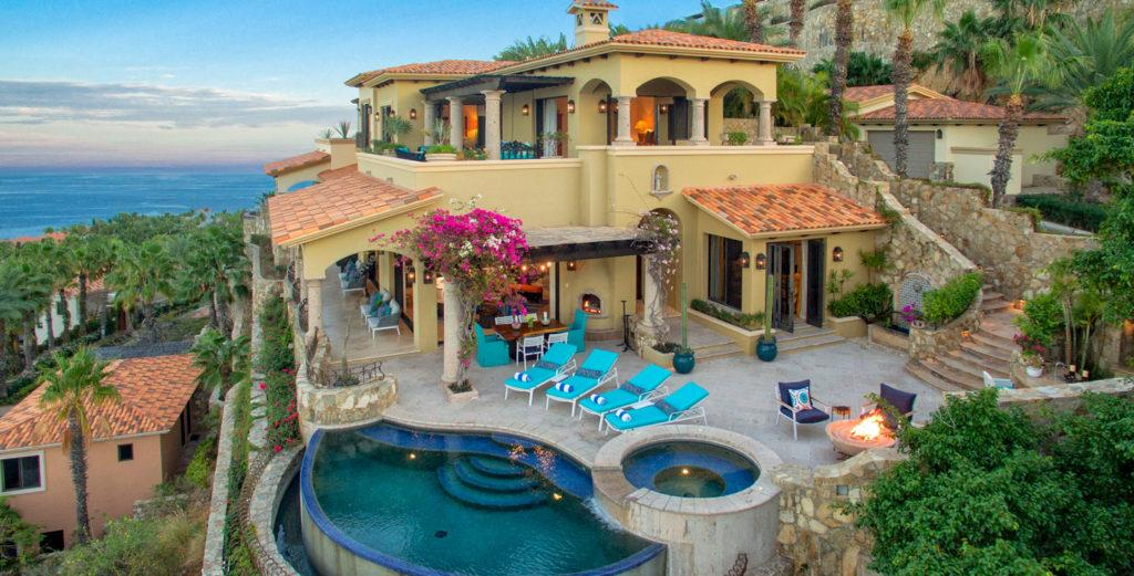 Colonial-style Hillside Villa with Bay View and Pool Terrace