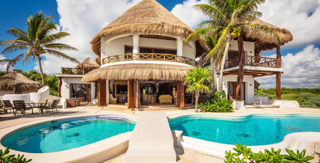 Property Image 1 - Tropical Mexican Villa with Beachfront Pool Terrace
